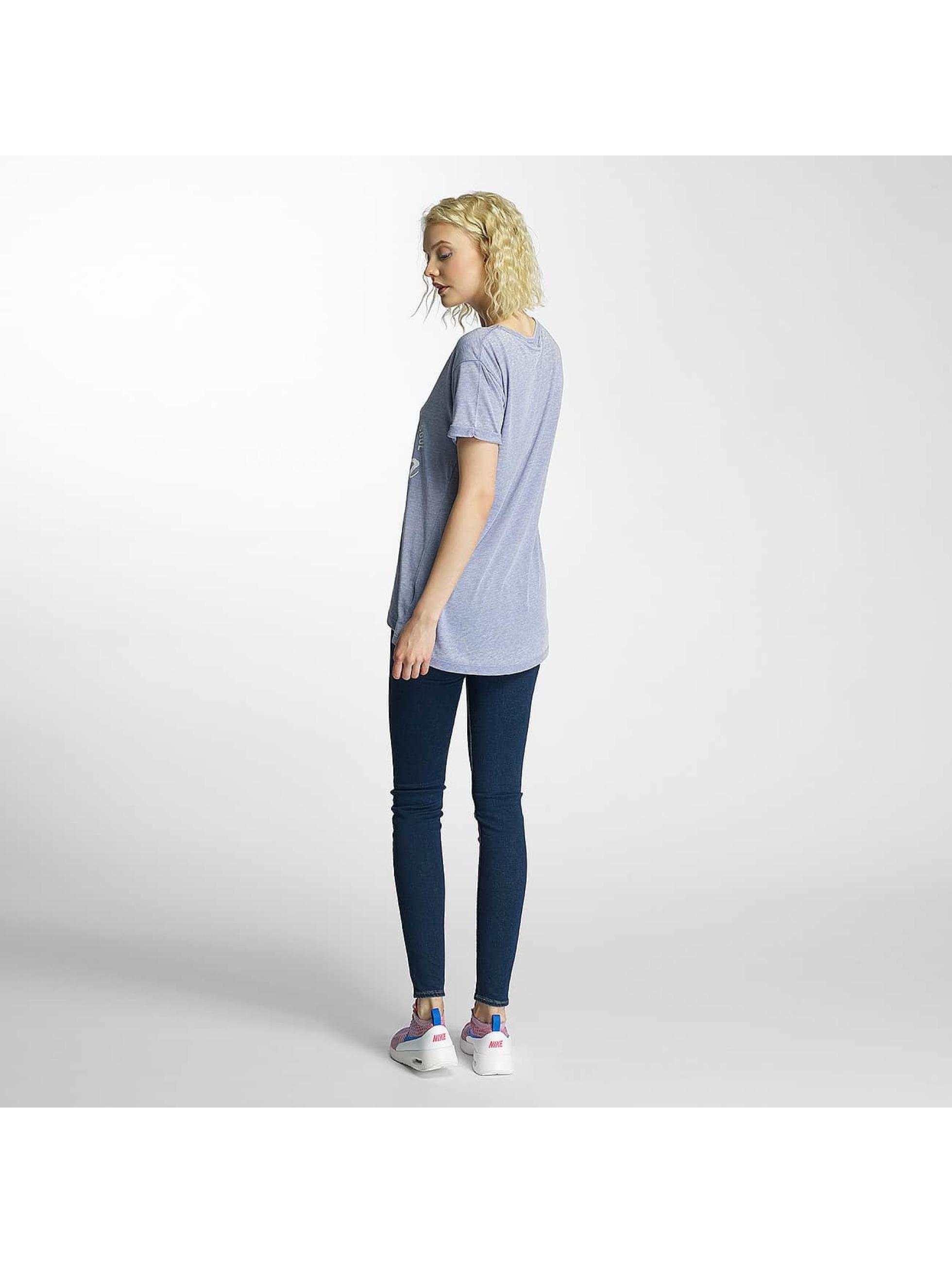 Brave Soul T-Shirt Burn Out V-Neck bleu