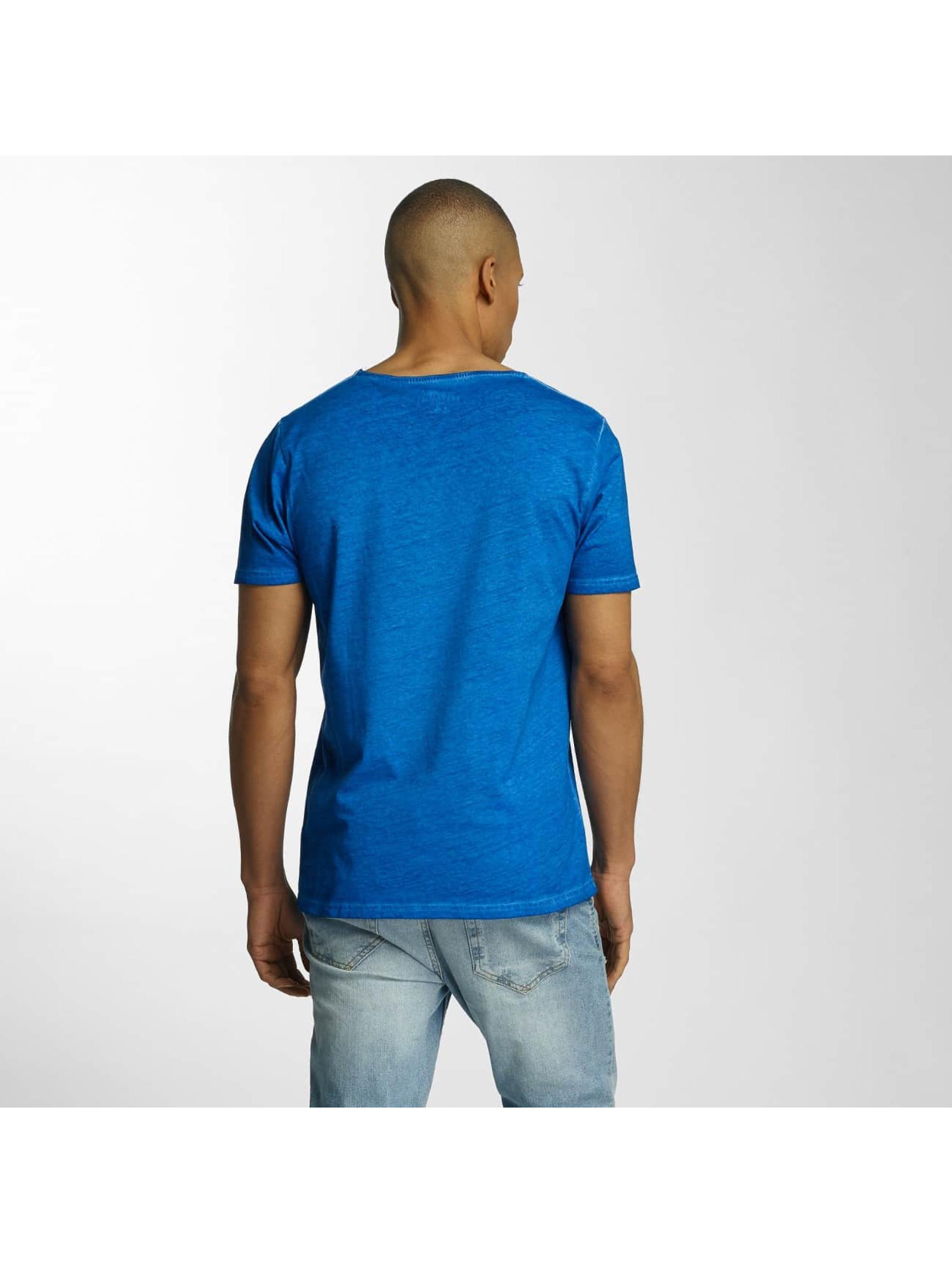 Brave Soul T-Shirt Crew Neck bleu