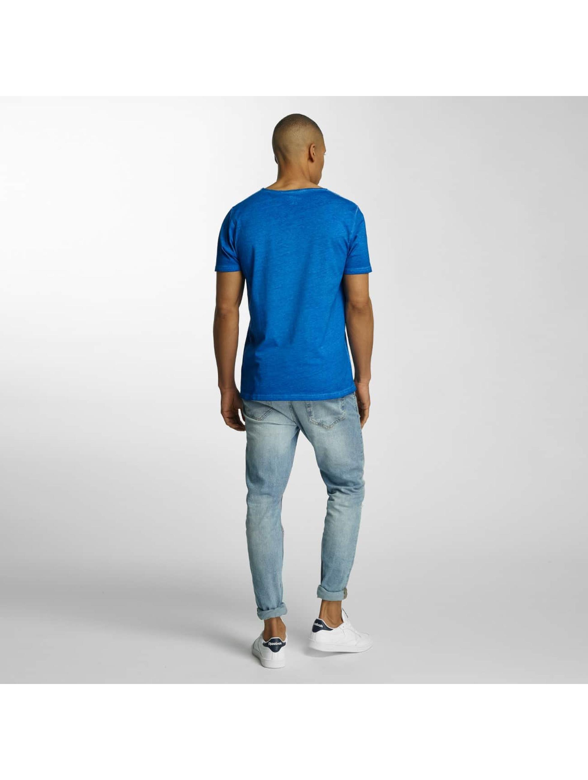 Brave Soul T-shirt Crew Neck blu