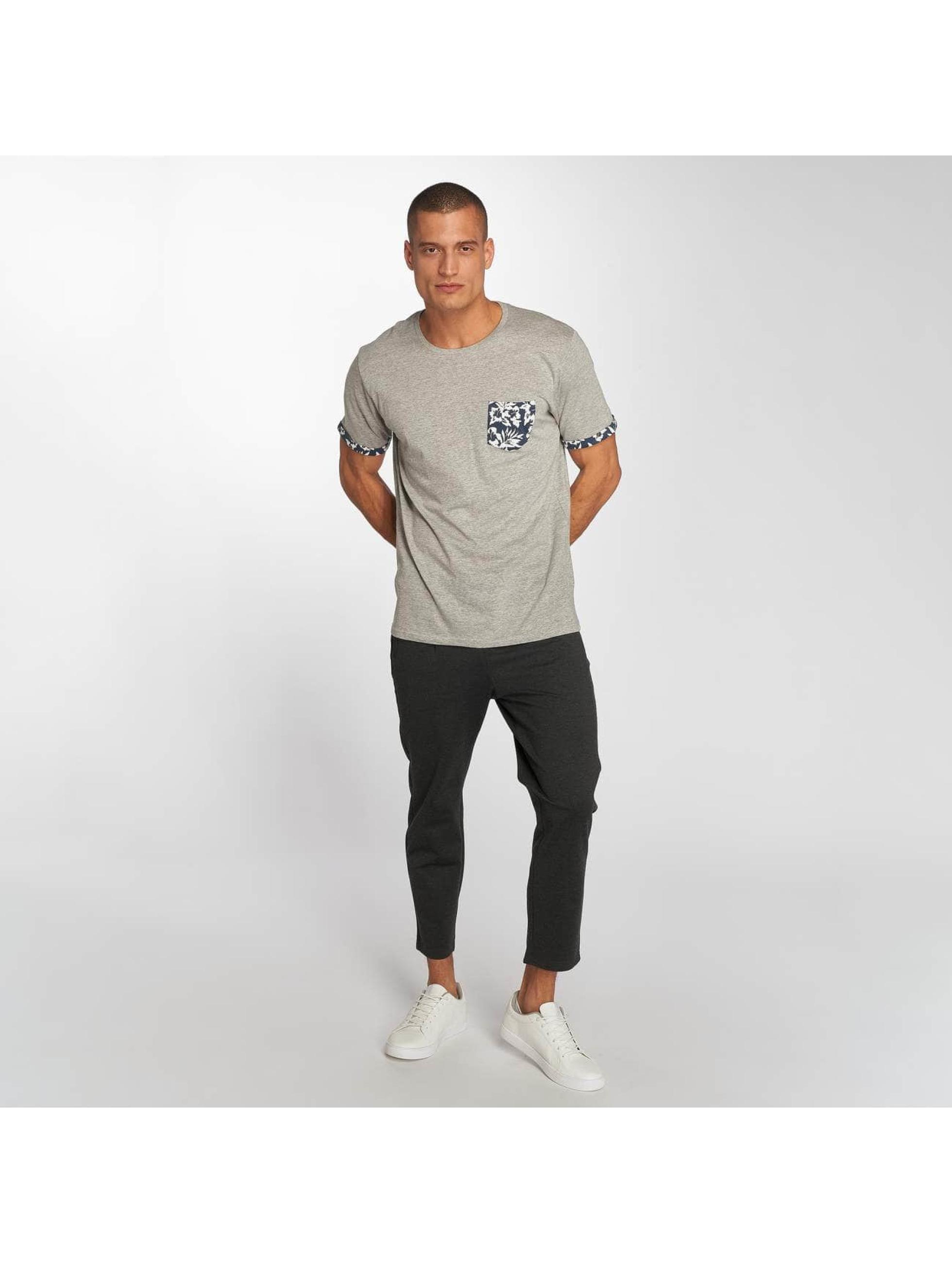 Brave Soul T-Shirt Viola grau
