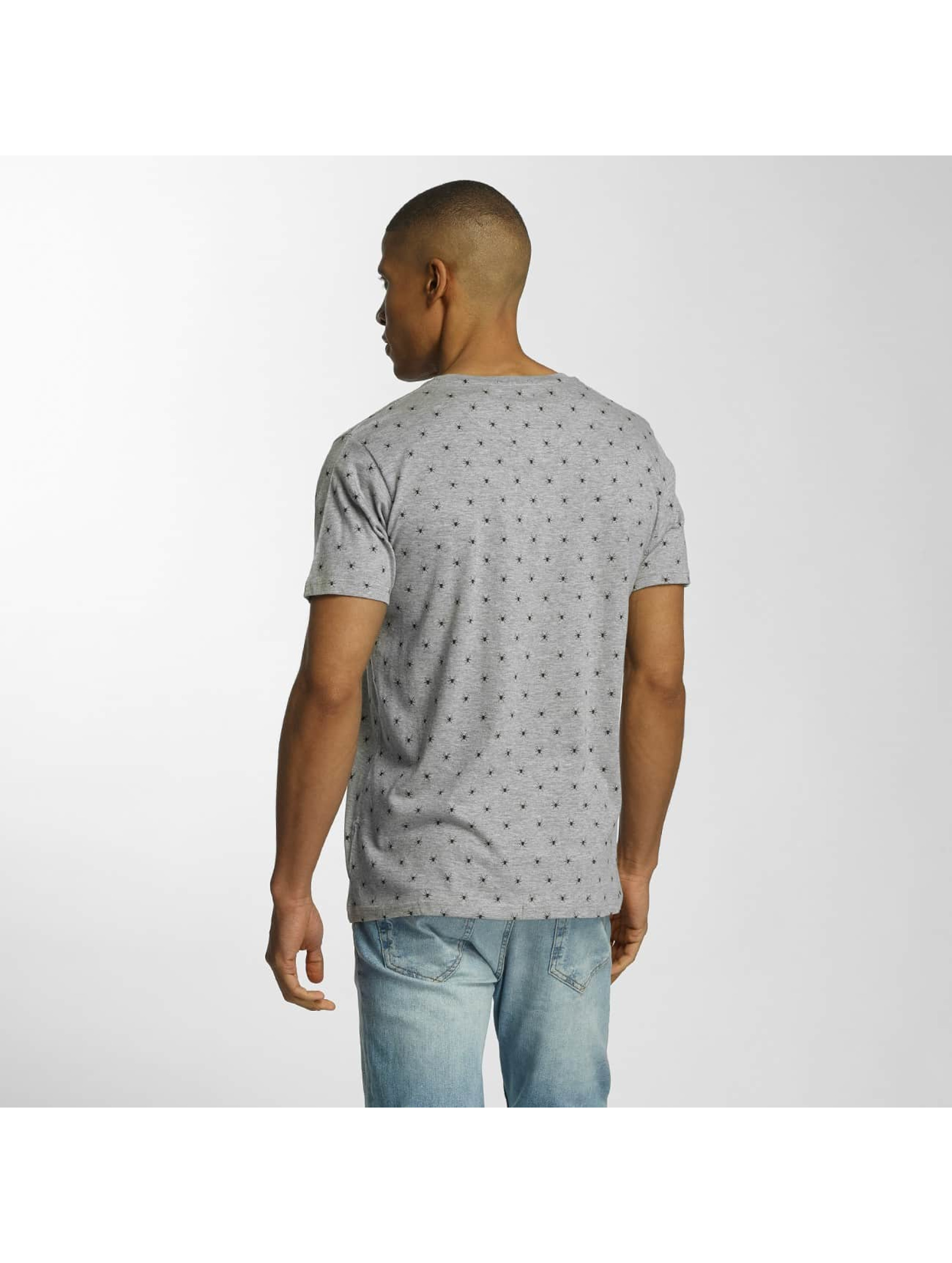 Brave Soul T-Shirt All Over Spider Print gray