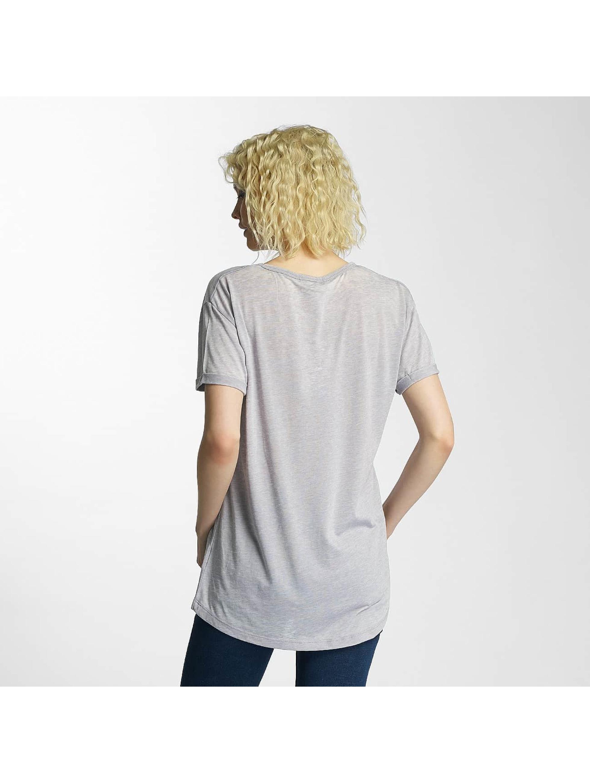 Brave Soul T-shirt Soul Burn Out V-Neck grigio