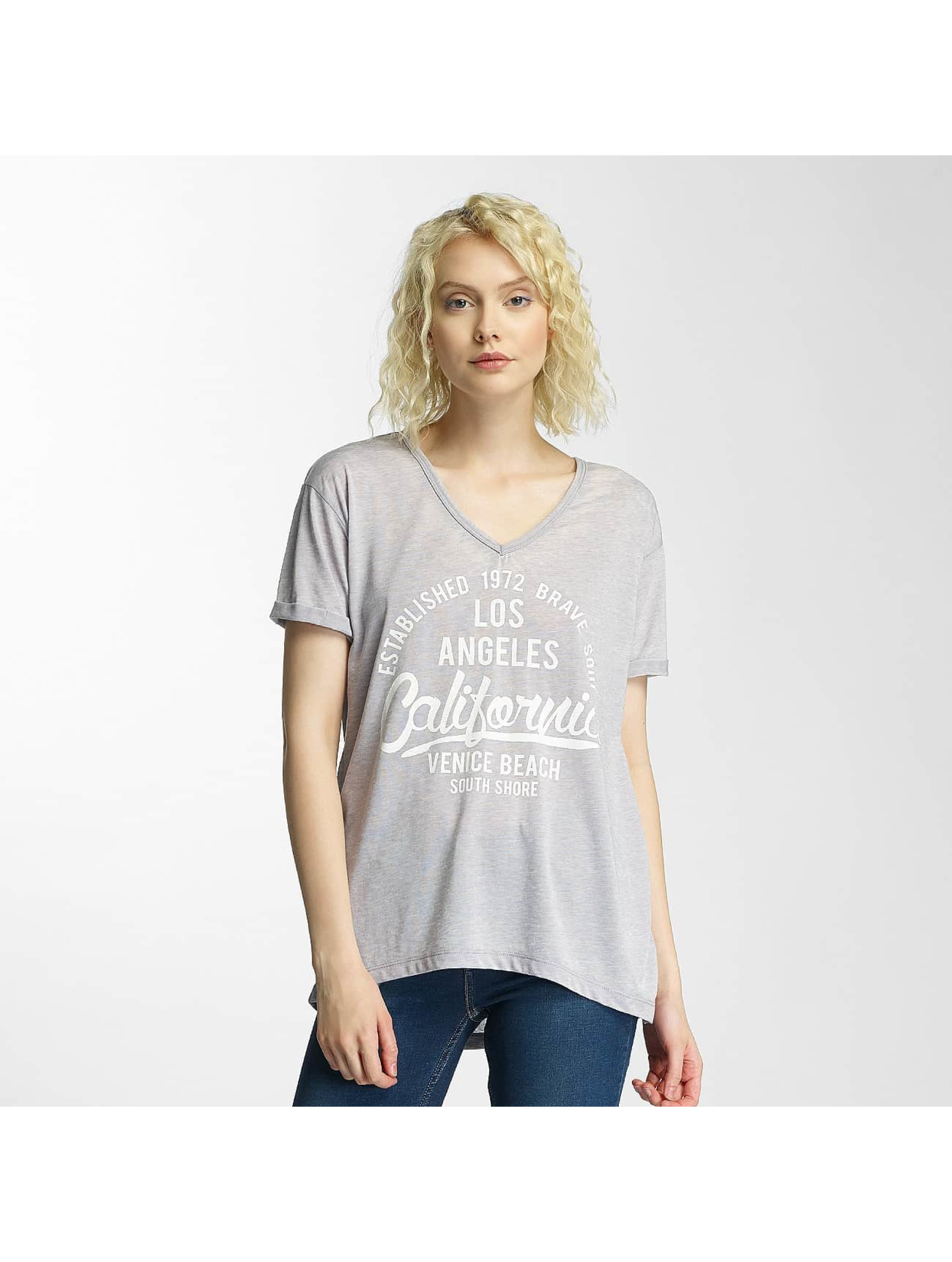 Brave Soul t-shirt Soul Burn Out V-Neck grijs