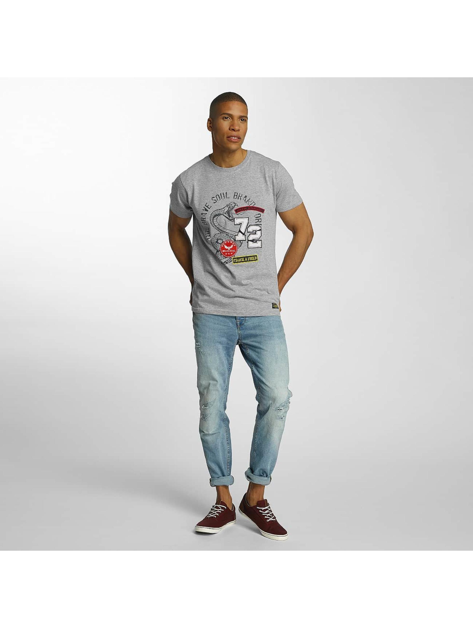 Brave Soul T-Shirt Crew Neck Set gris