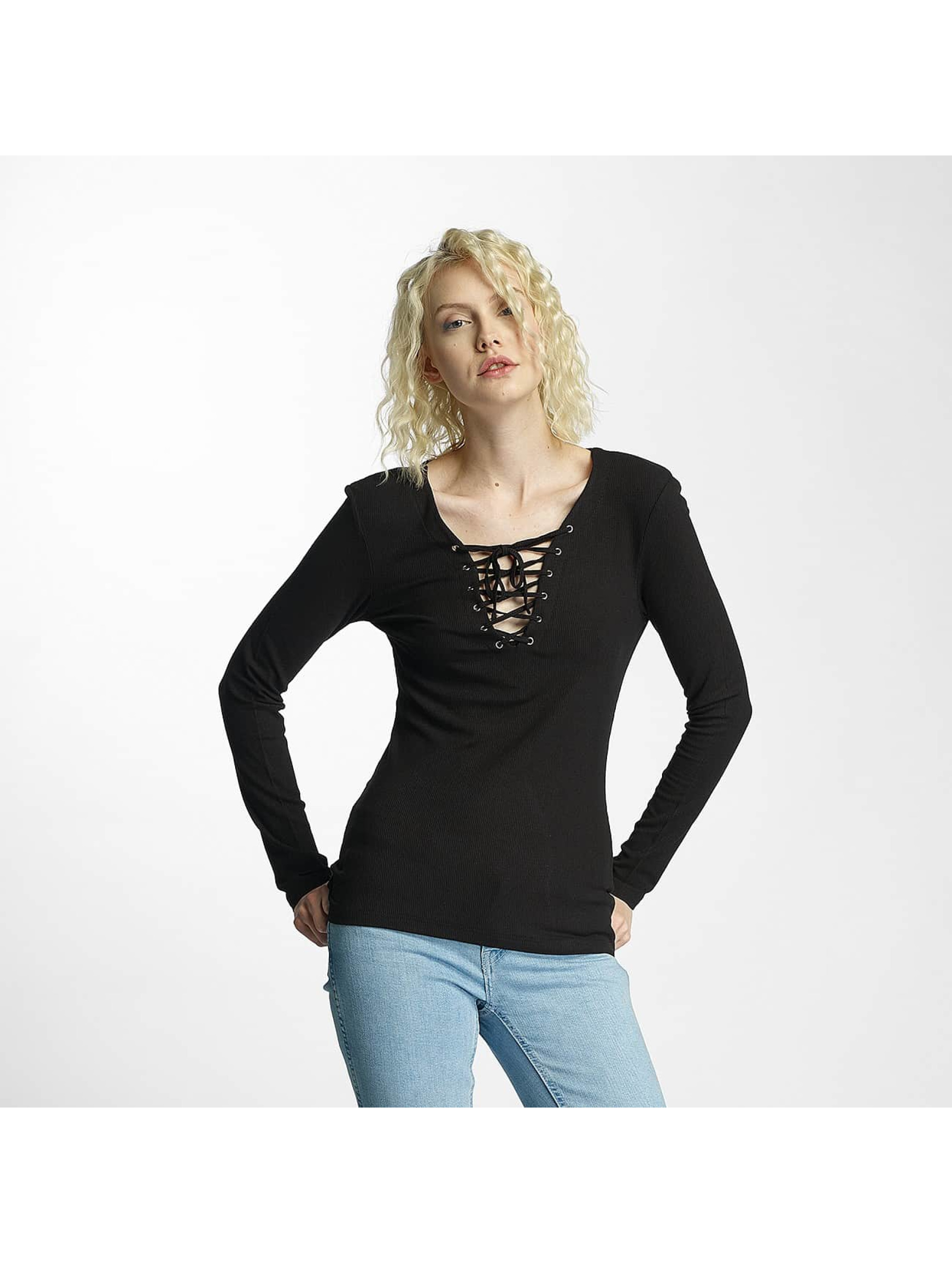 Brave Soul T-Shirt manches longues Soul Tie Up noir