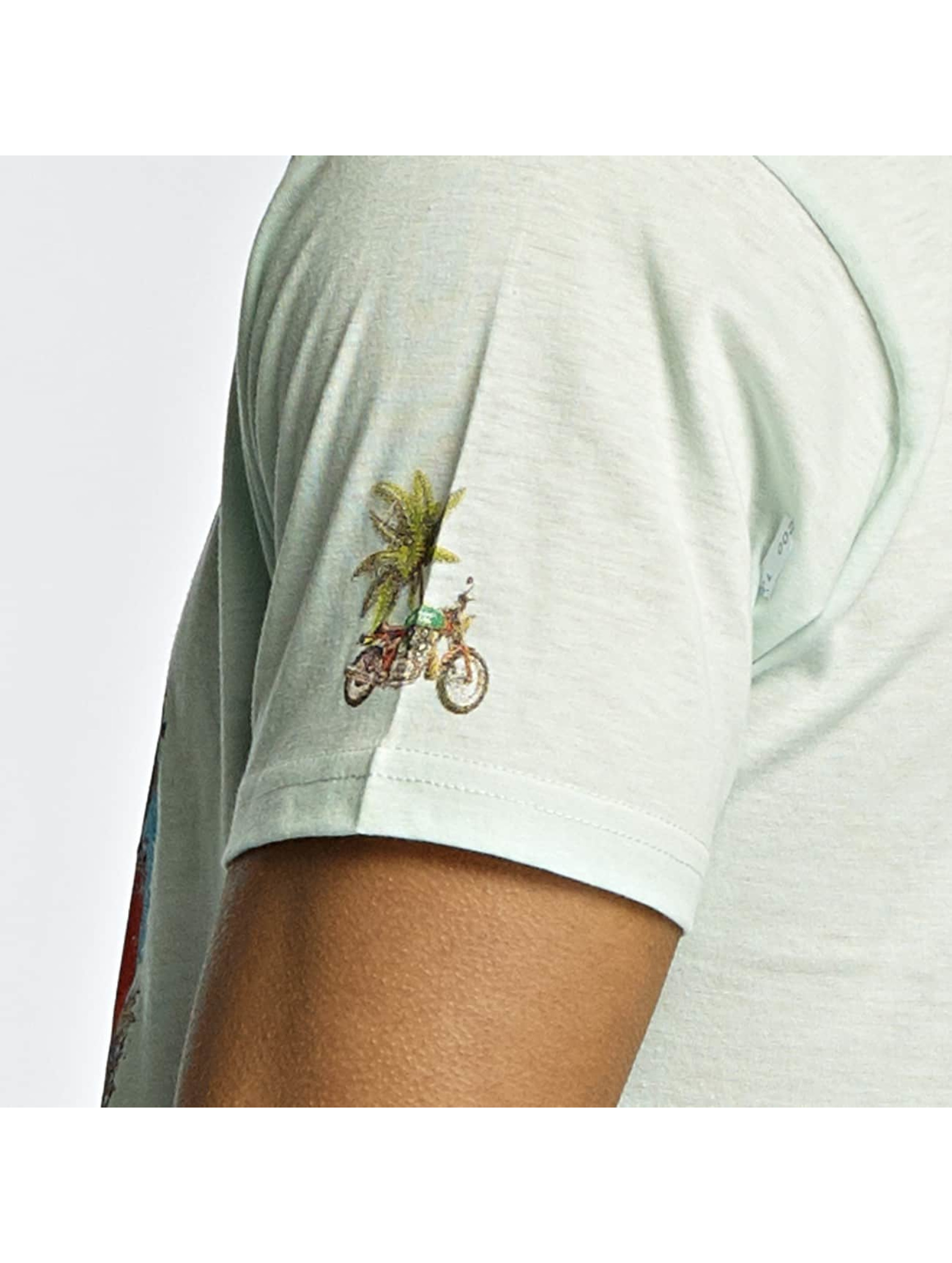 Brave Soul T-shirt Crew Neck verde
