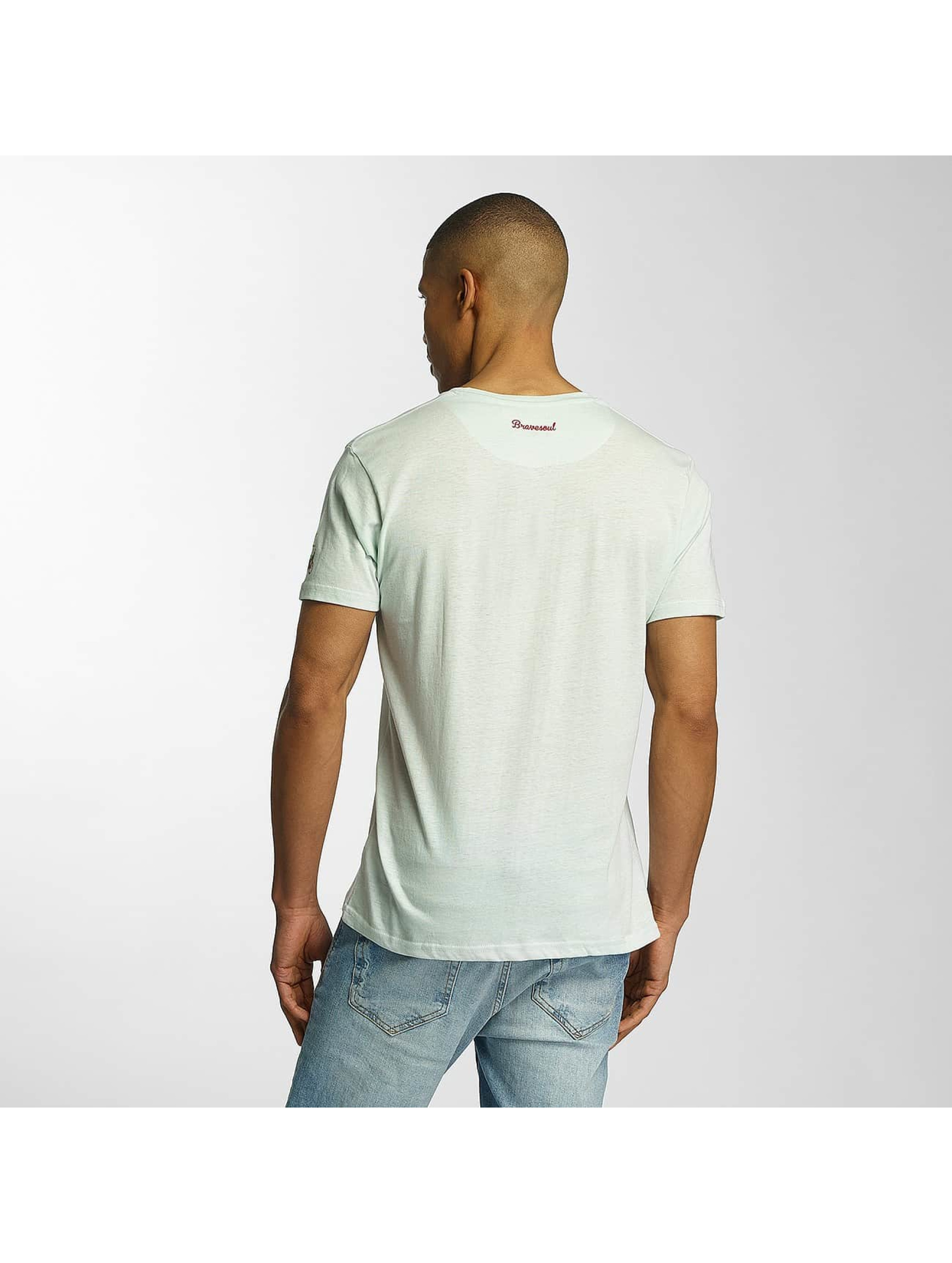 Brave Soul T-Shirt Crew Neck vert
