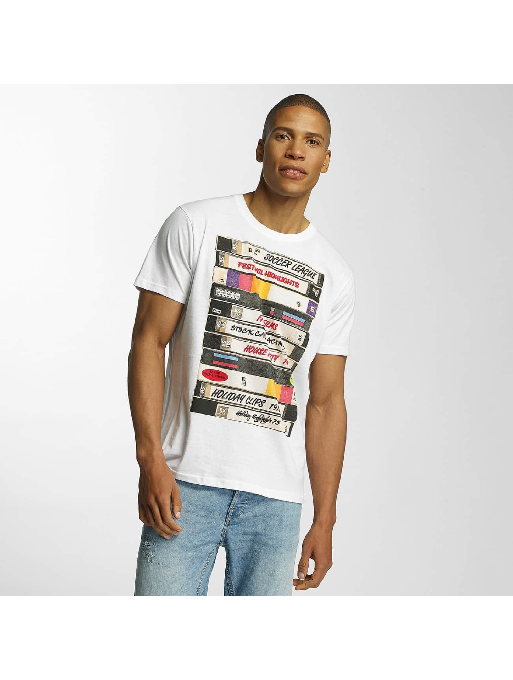 Brave Soul T-Shirt All Over Crew Neck weiß
