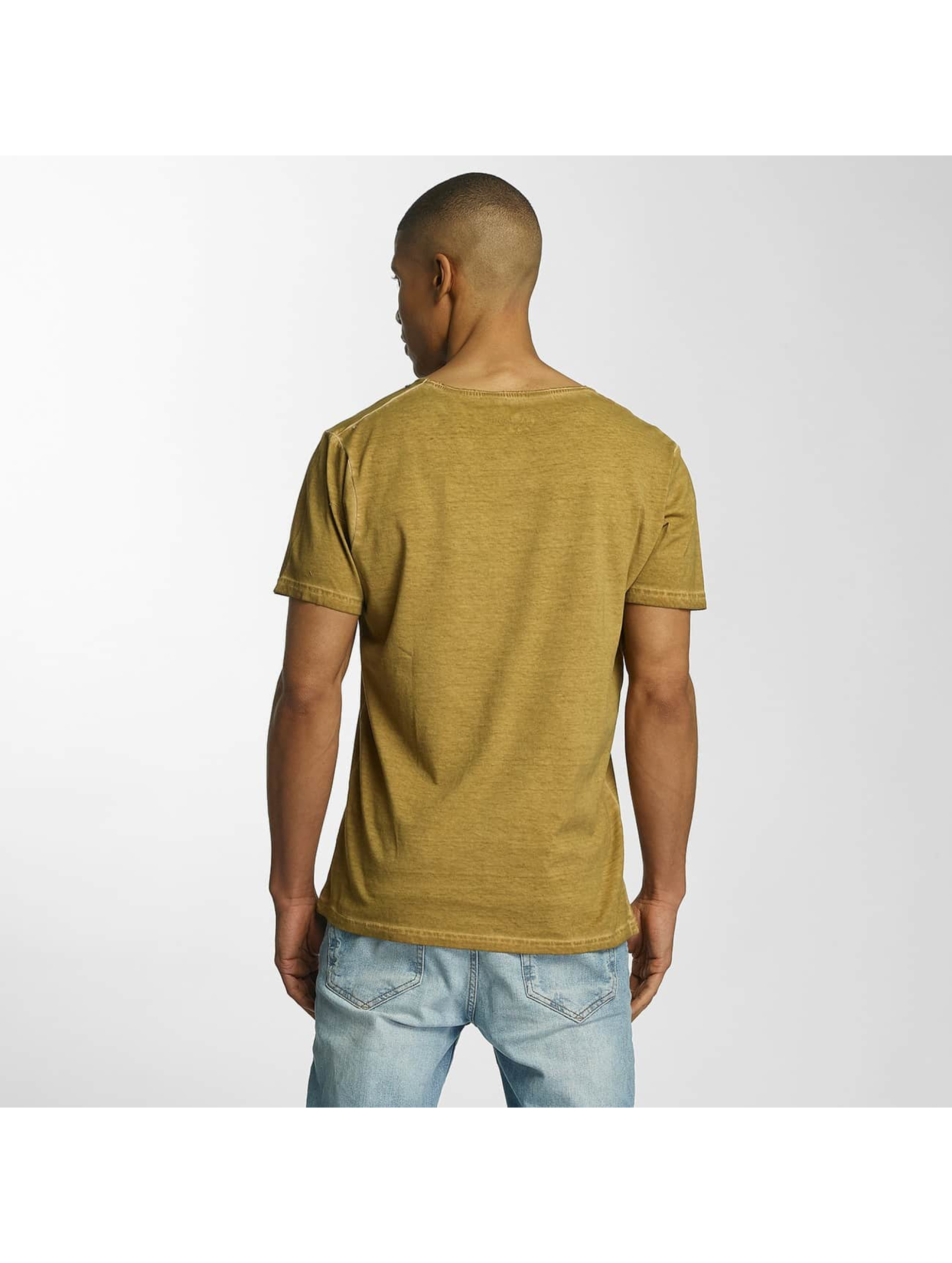 Brave Soul T-Shirt Crew Neck yellow