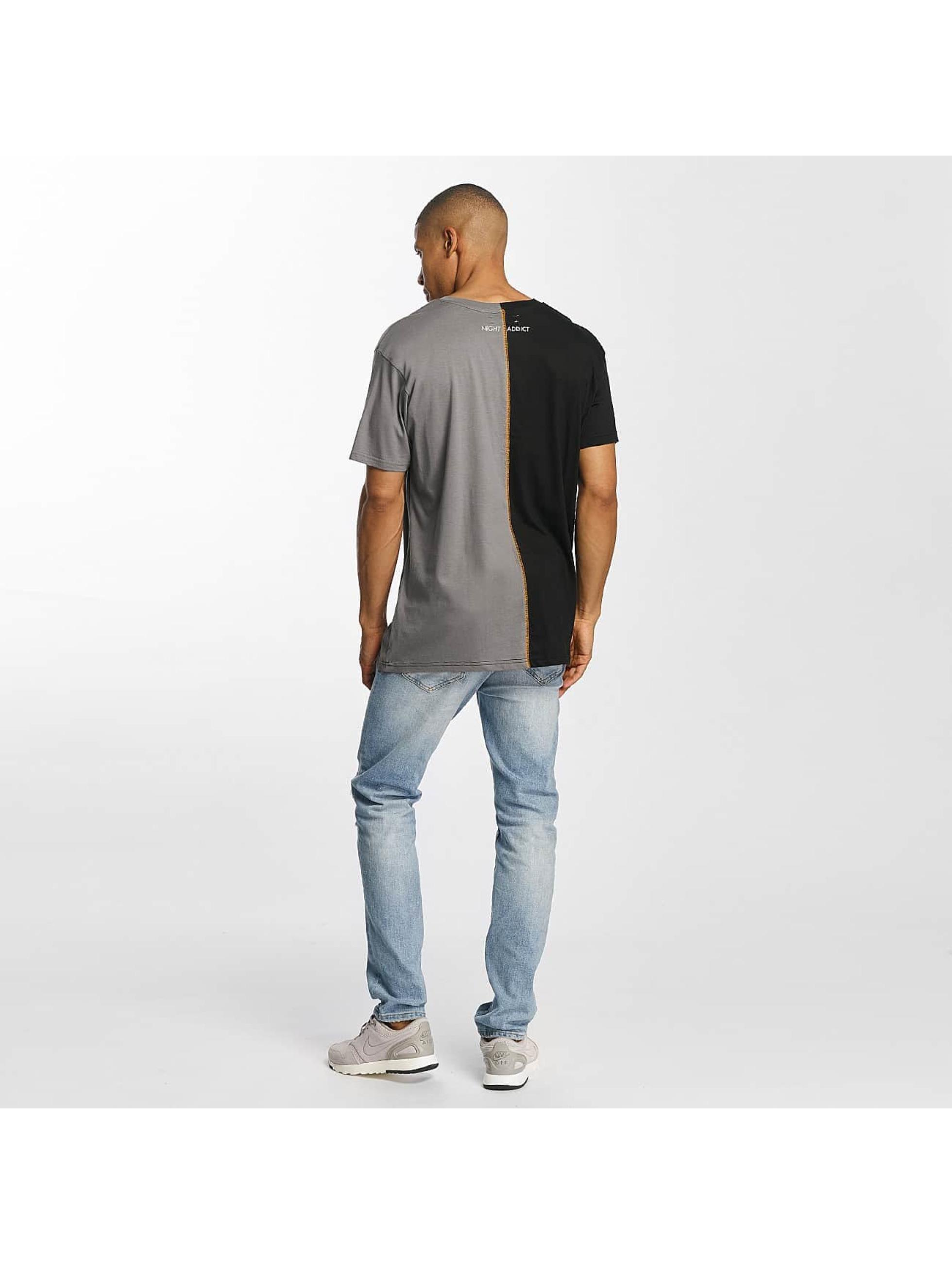 Brave Soul t-shirt Cut And Sew zwart