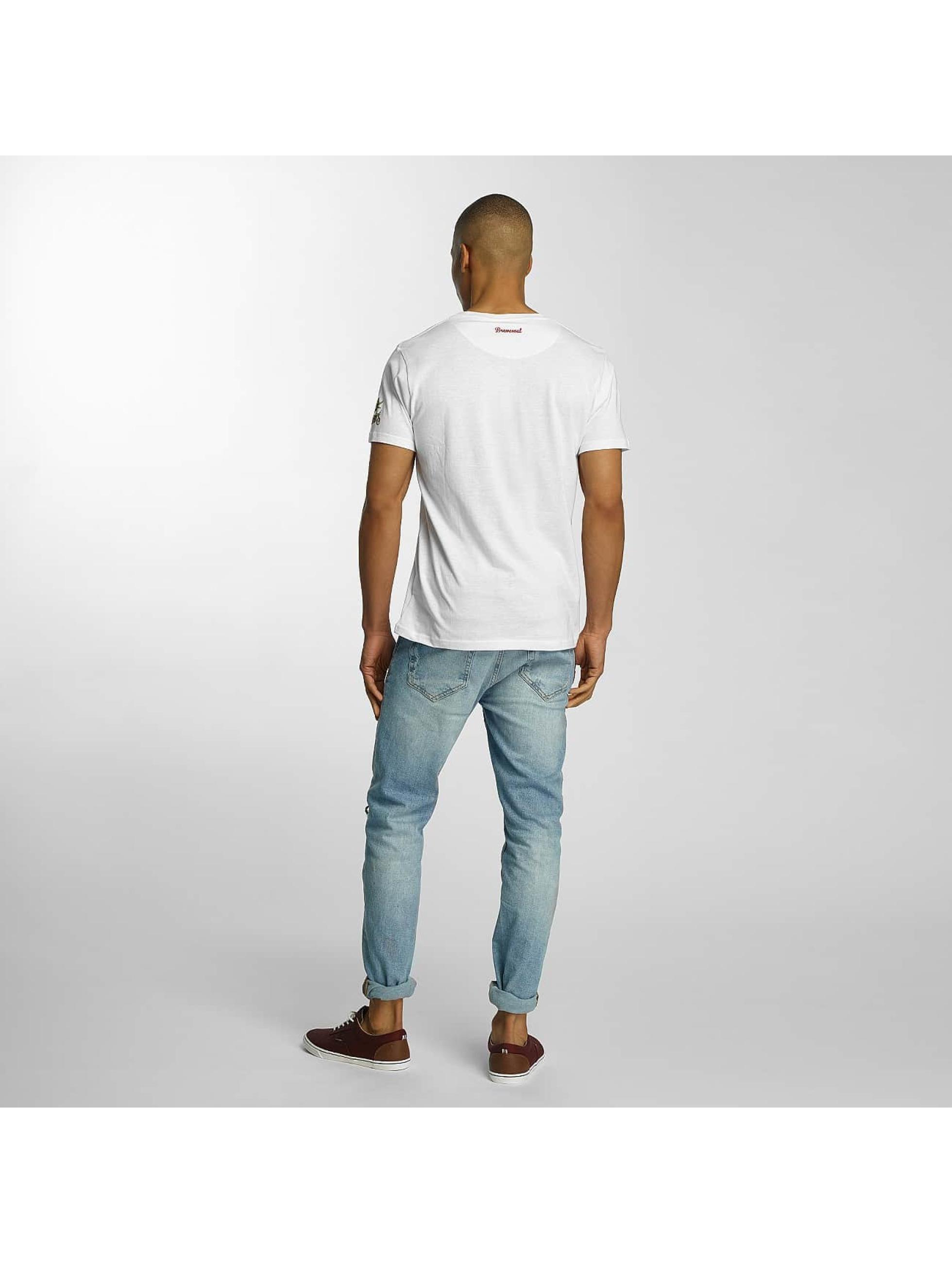 Brave Soul T-shirts Crew Neck hvid