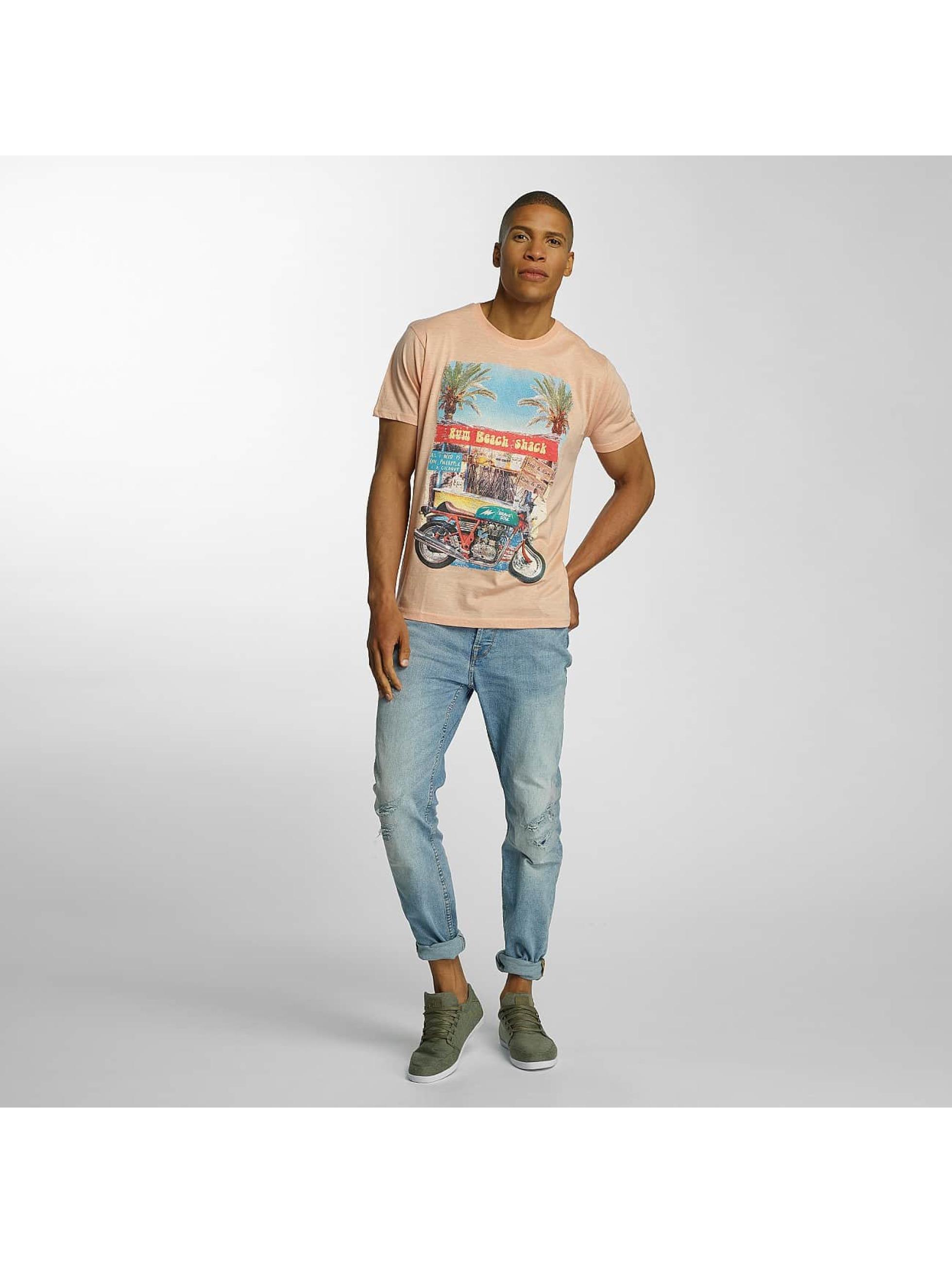 Brave Soul T-shirts Crew Neck orange