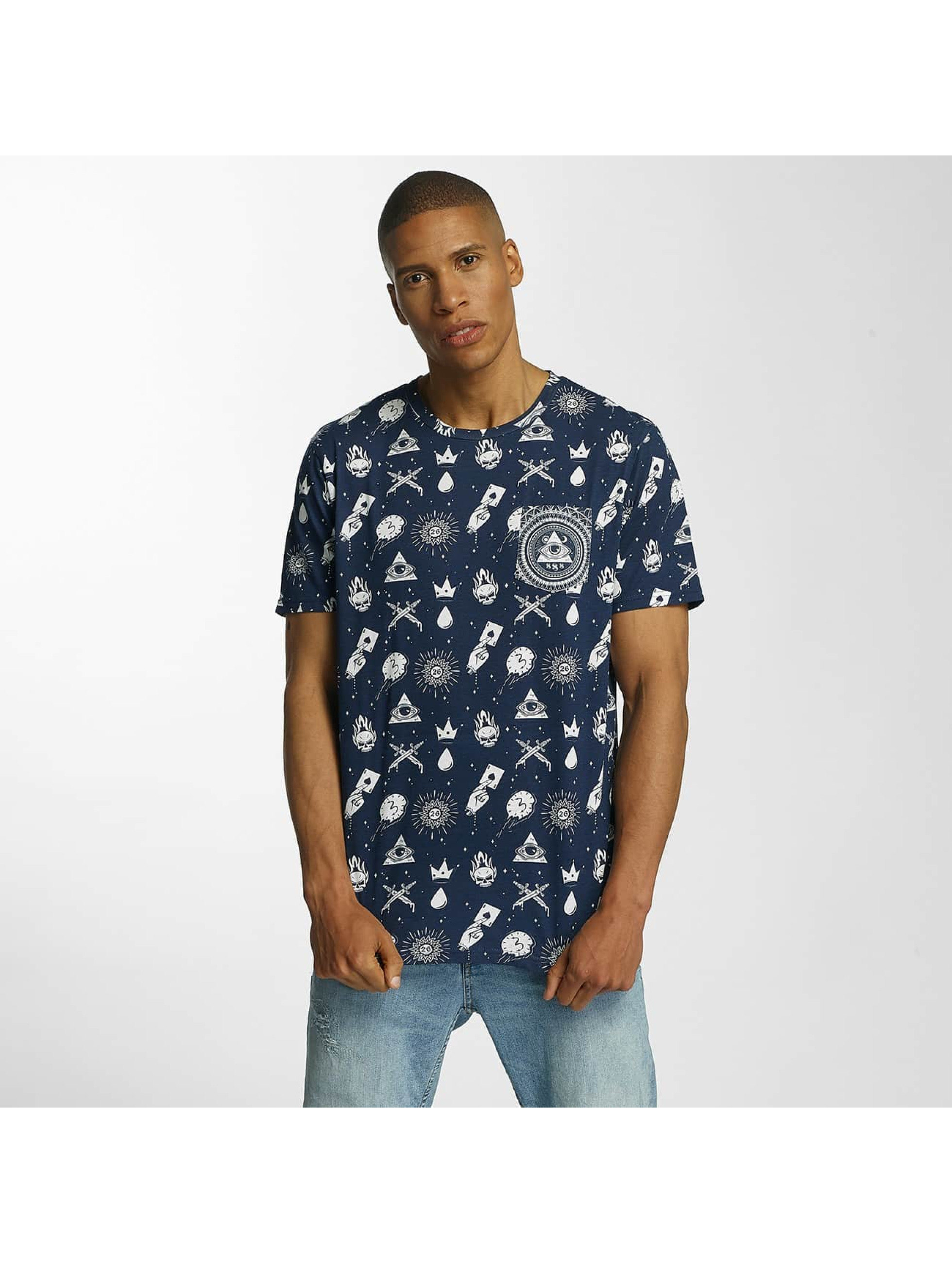 Brave Soul T-Shirty All Over Print niebieski