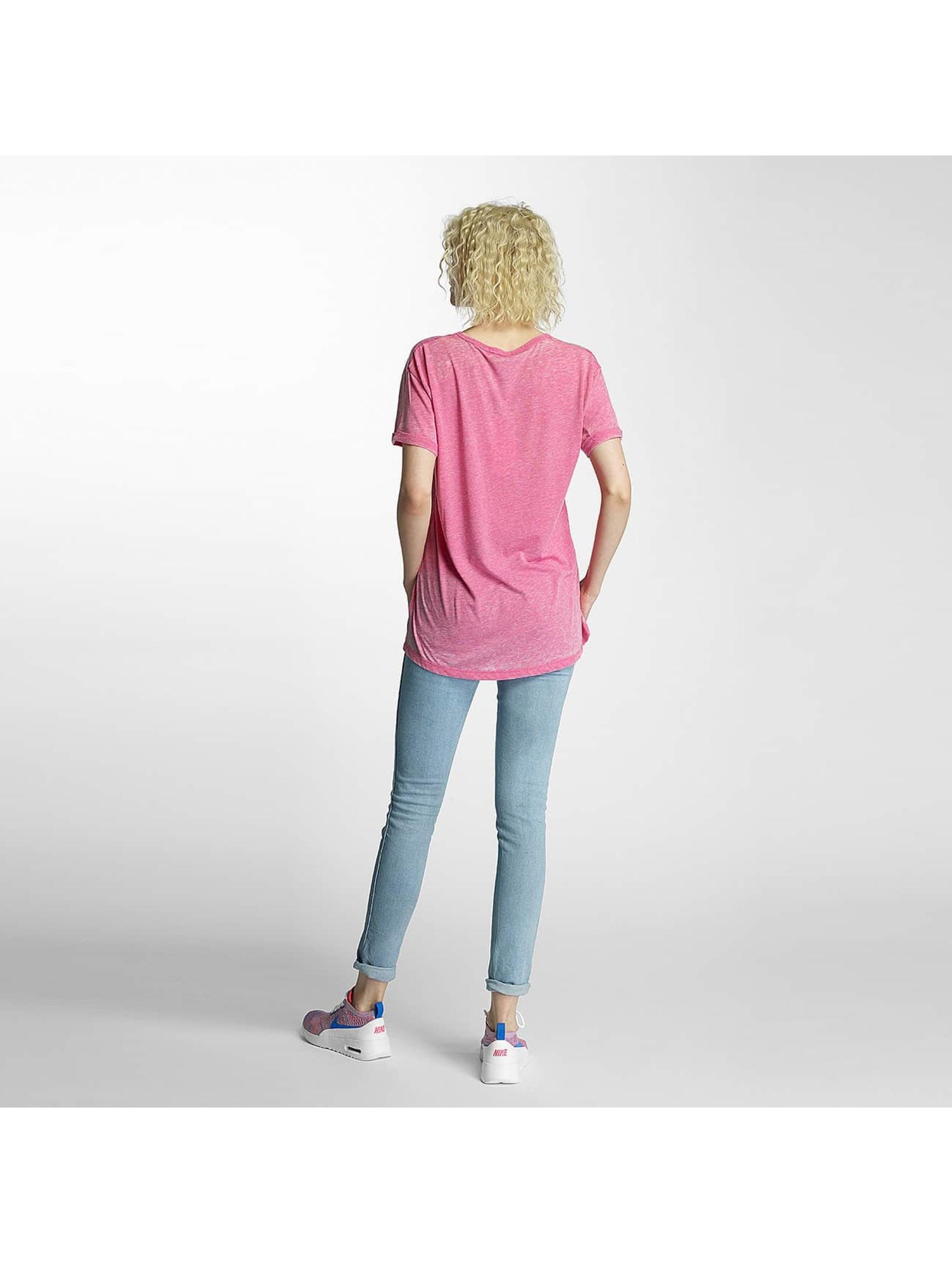 Brave Soul T-Shirty Soul Burn Out V-Neck pink