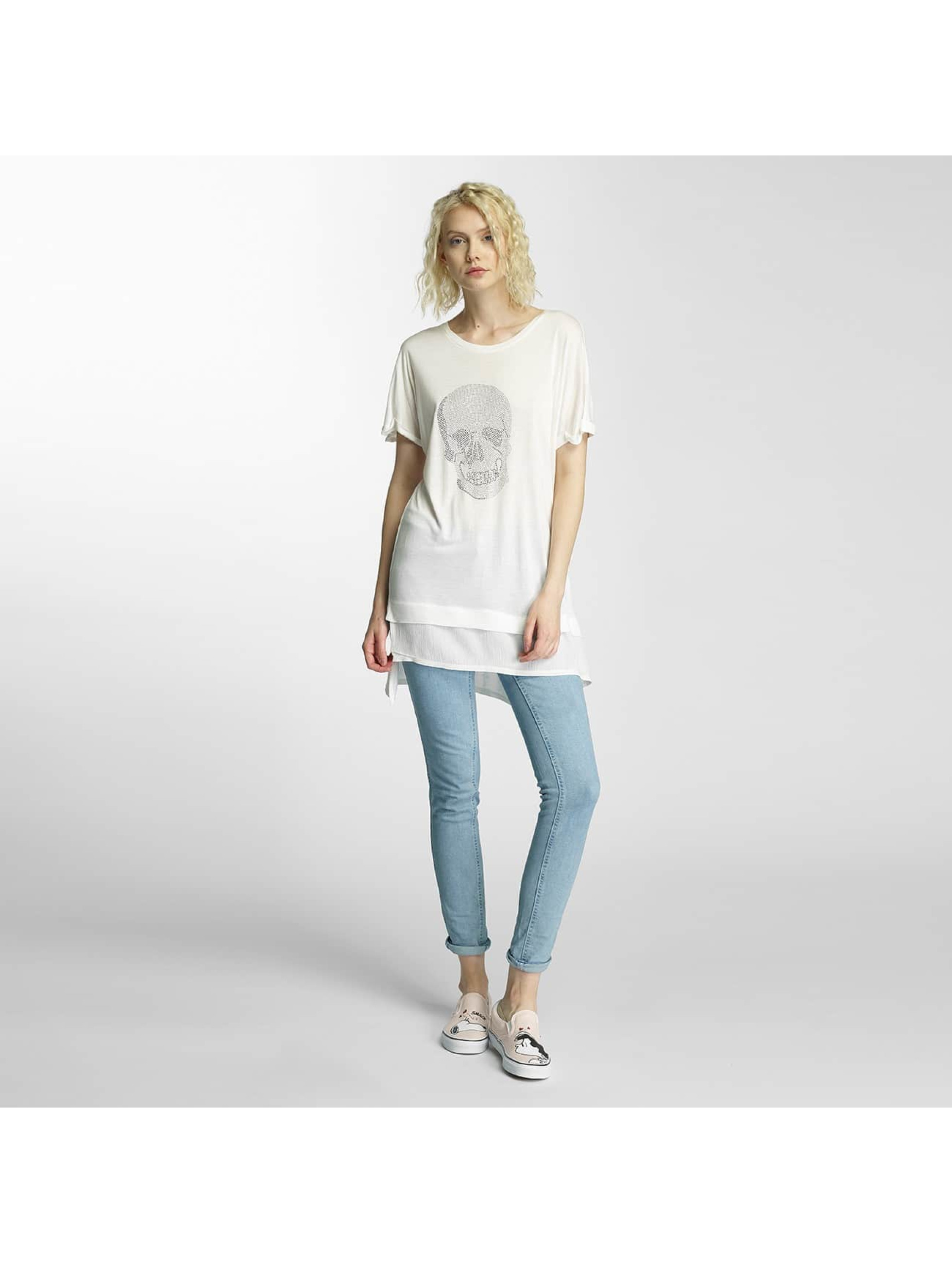 Brave Soul T-skjorter Hotfix Stud Skull beige
