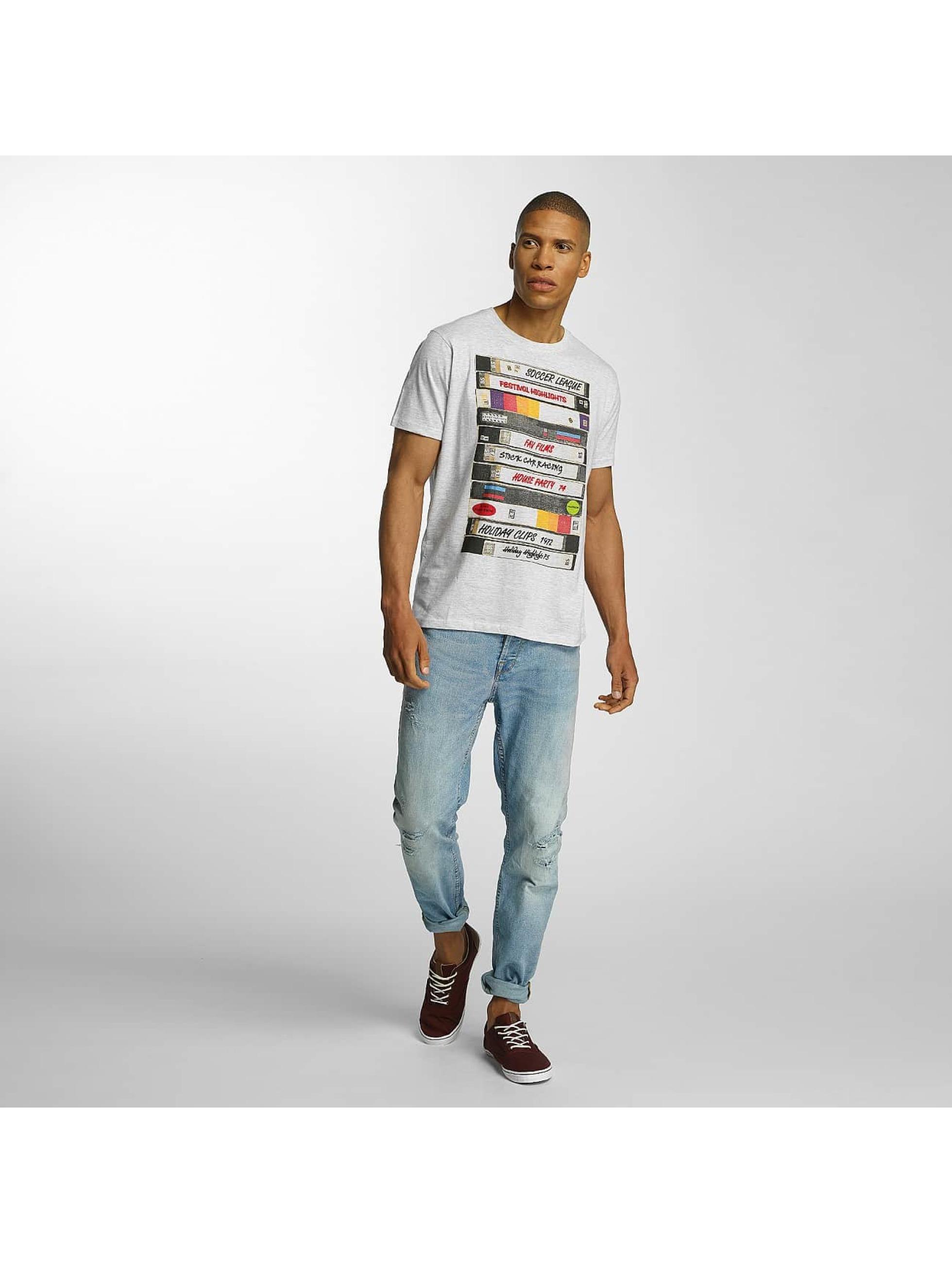 Brave Soul T-skjorter All Over Crew Neck grå