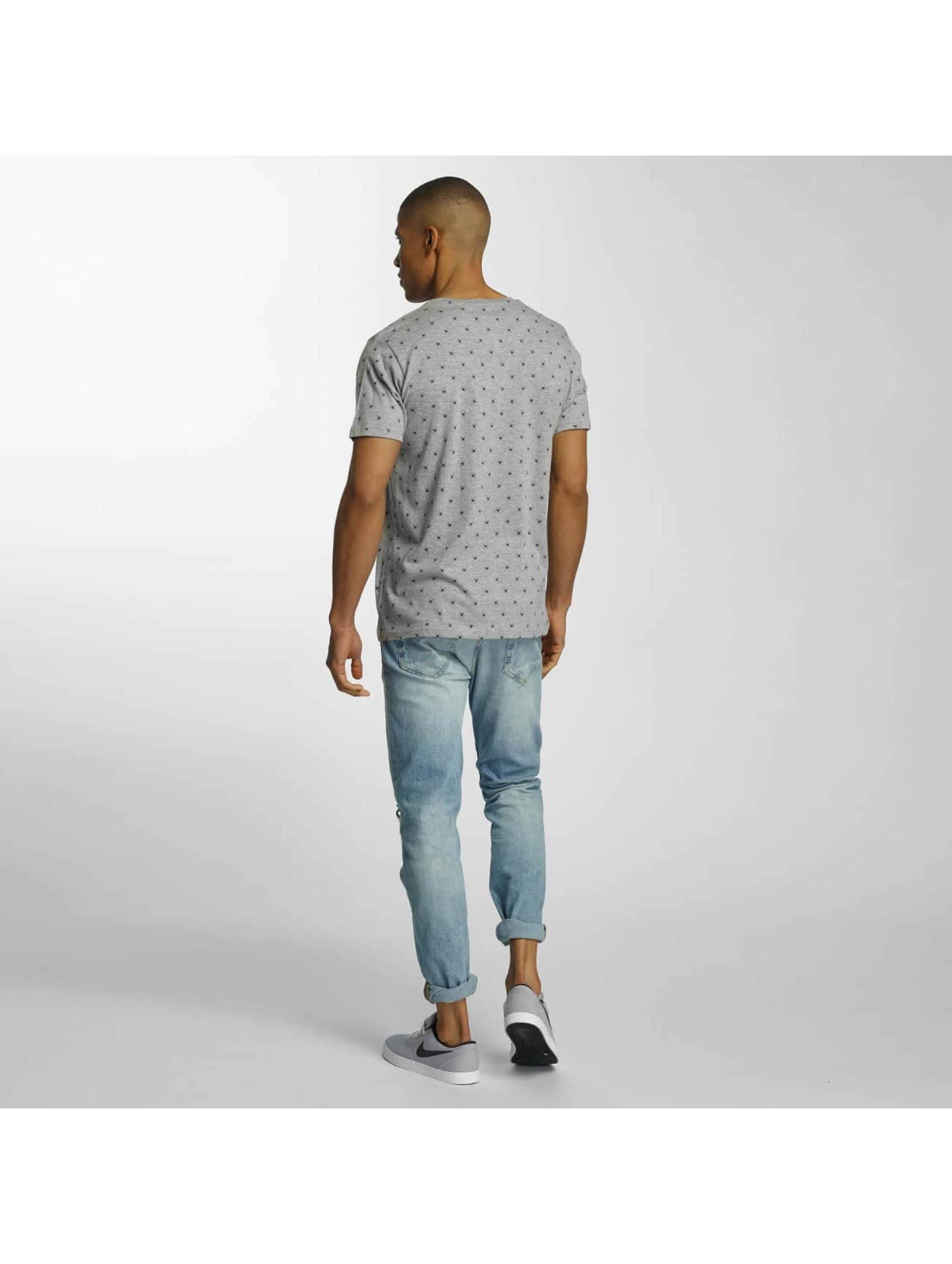 Brave Soul T-skjorter All Over Spider Print grå