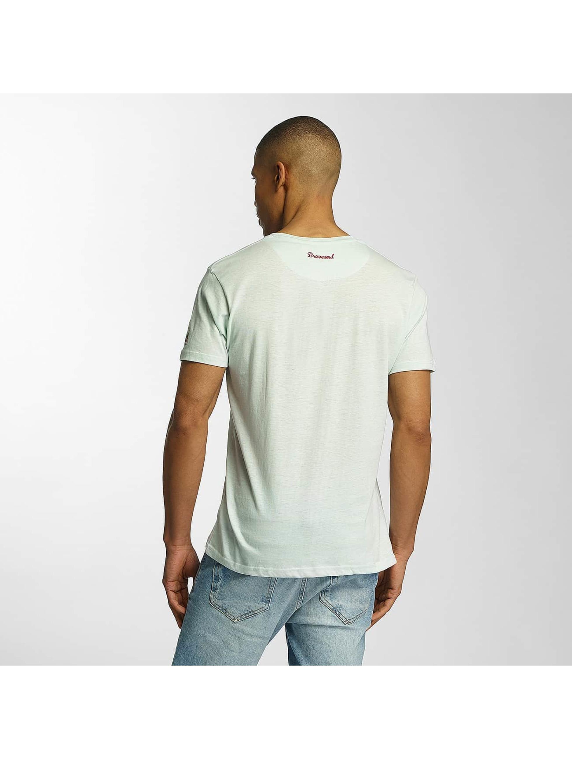 Brave Soul T-skjorter Crew Neck grøn