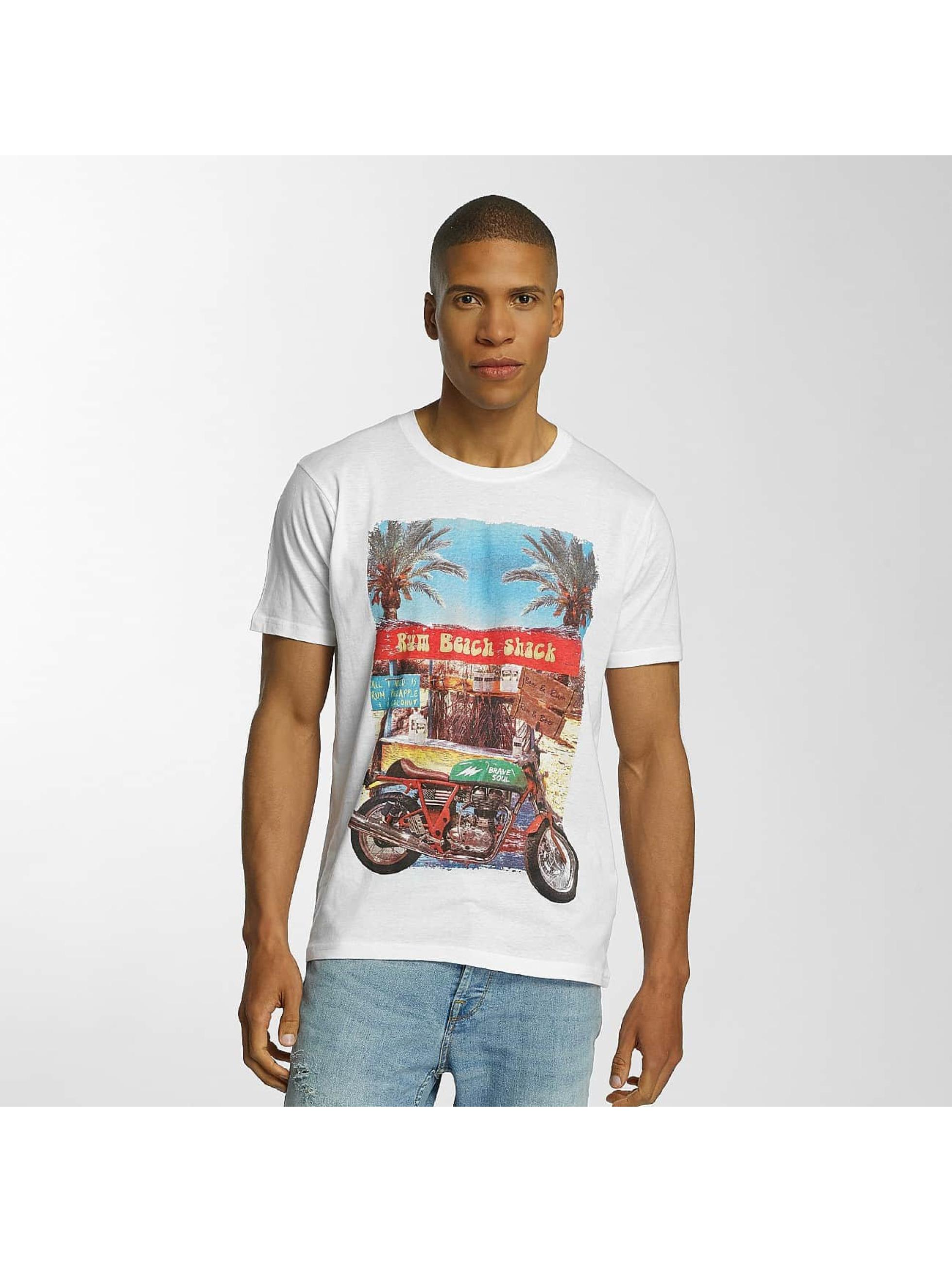 Brave Soul T-skjorter Crew Neck hvit