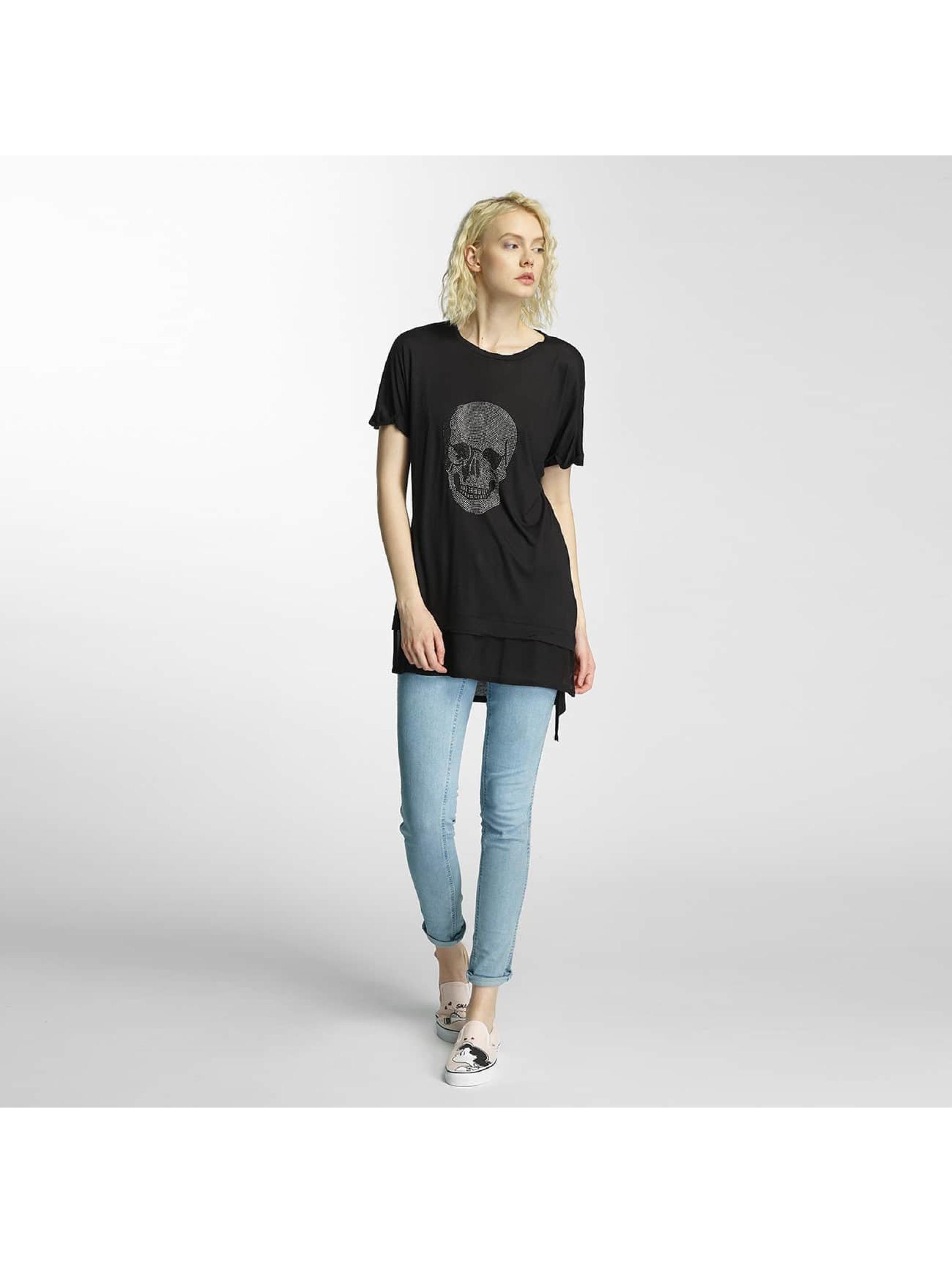 Brave Soul T-skjorter Hotfix Stud Skull svart