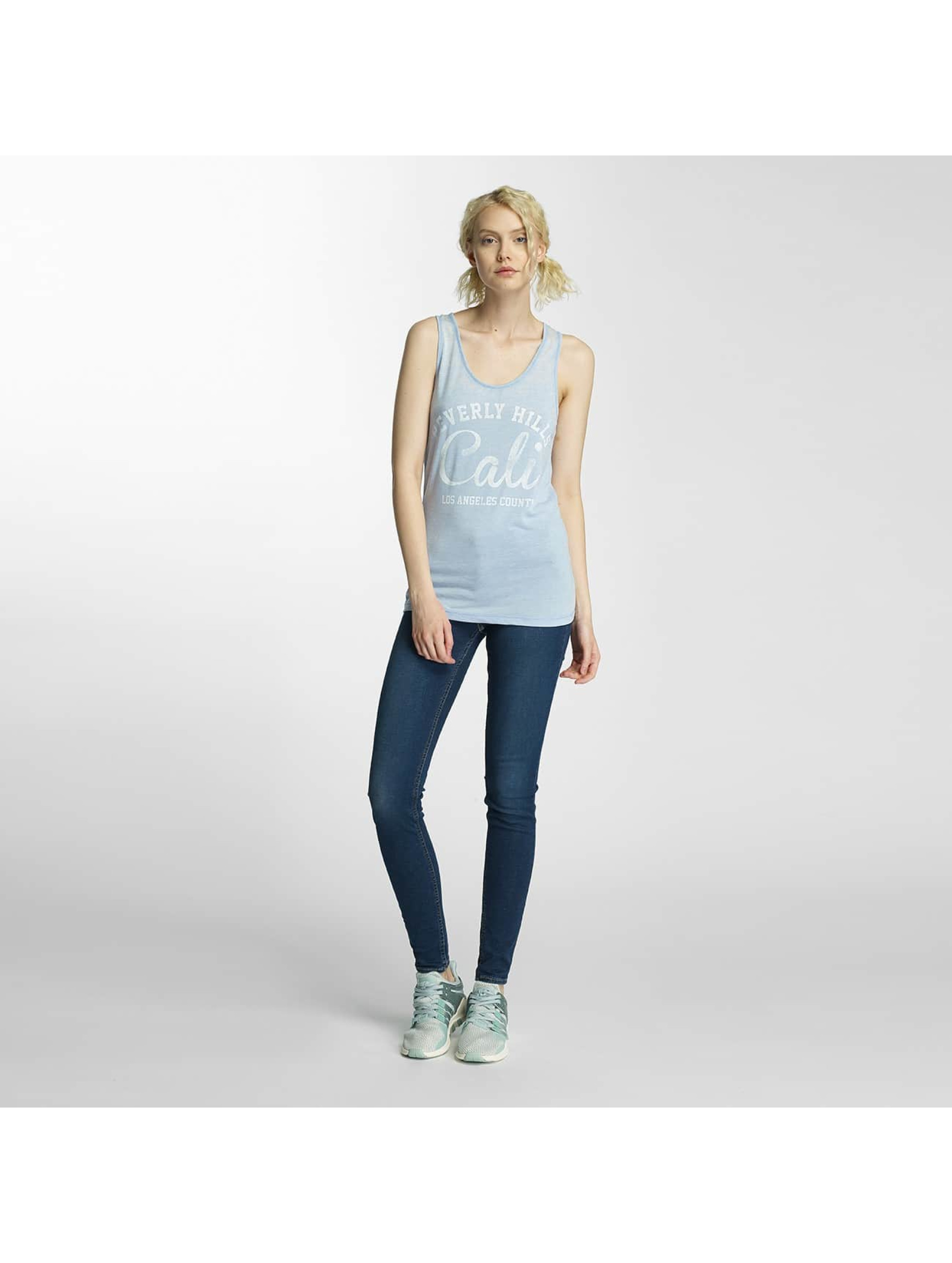 Brave Soul Tank Tops Soul Burn Out blå