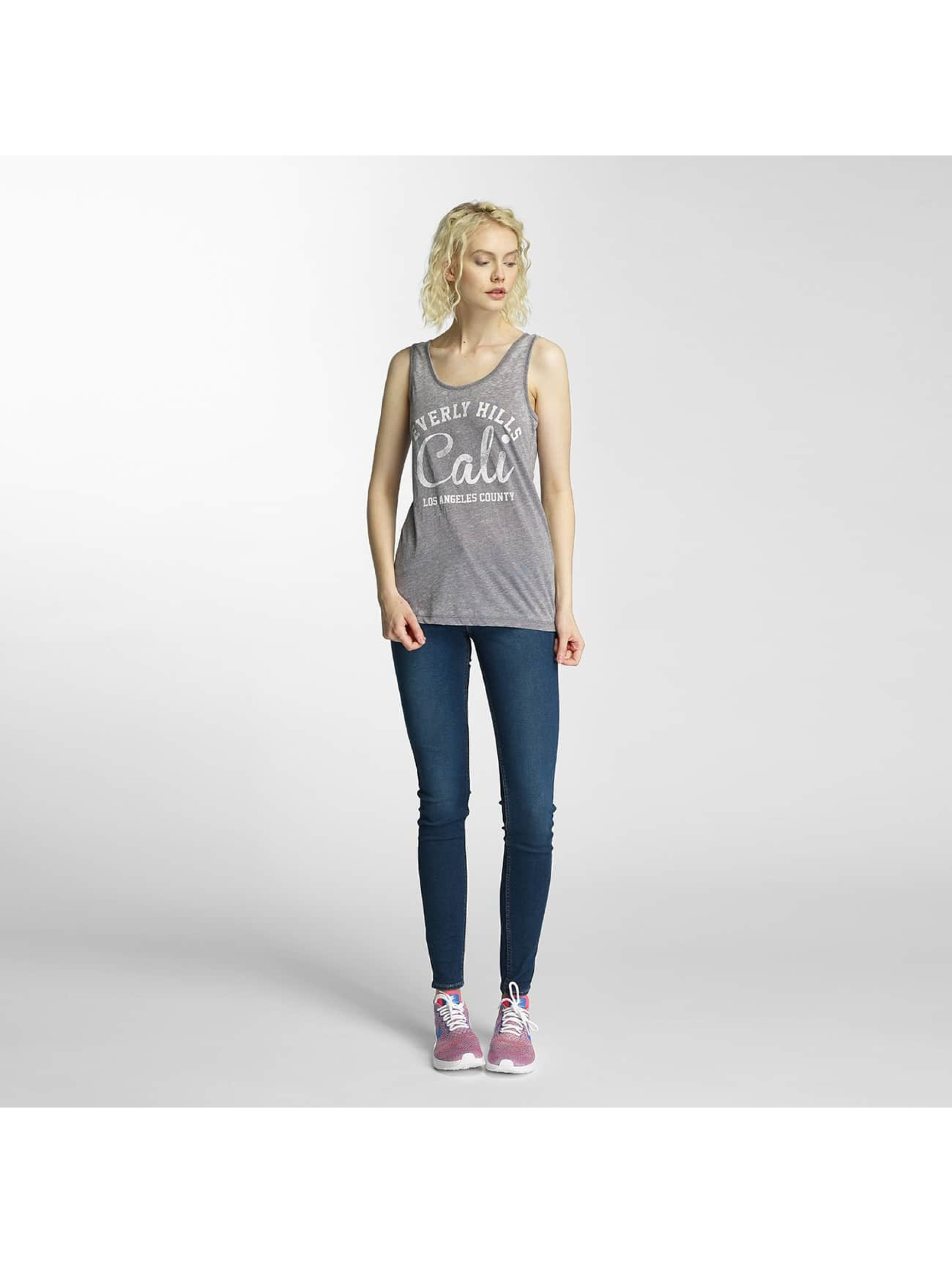 Brave Soul Tank Tops Burn Out grau