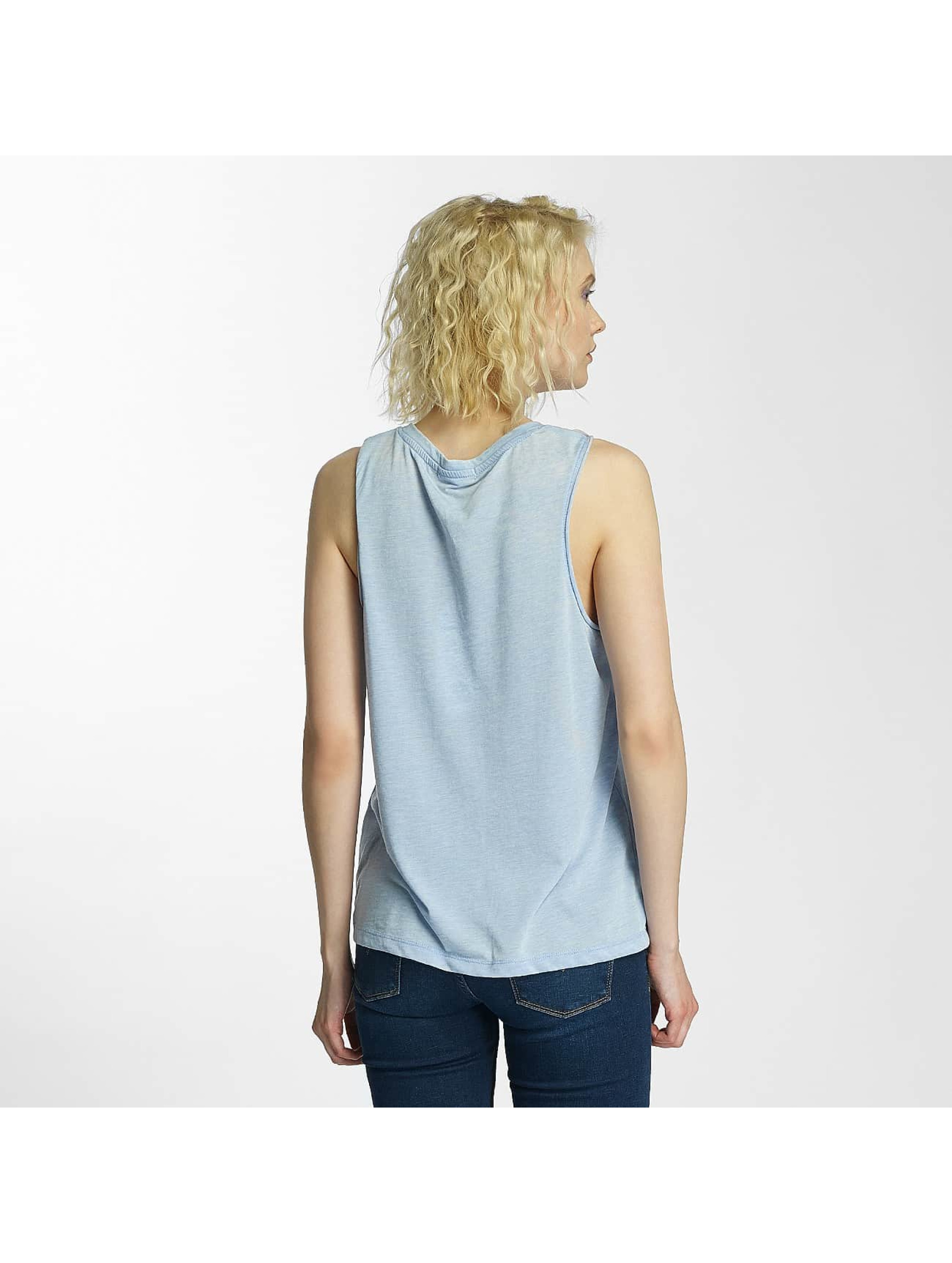 Brave Soul Tank Tops Printed Burn Out modrý