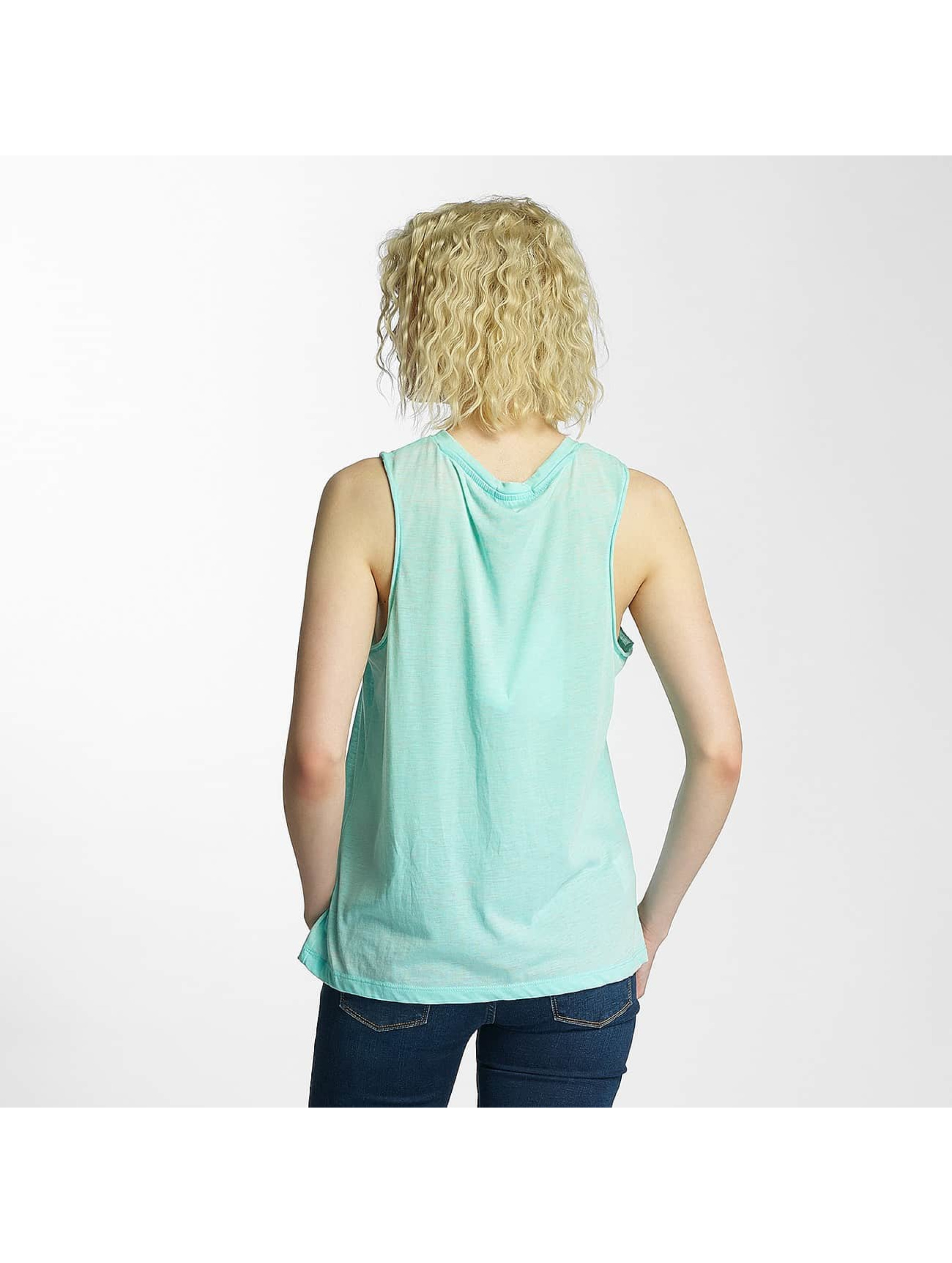 Brave Soul Tanktop Printed Burn Out groen