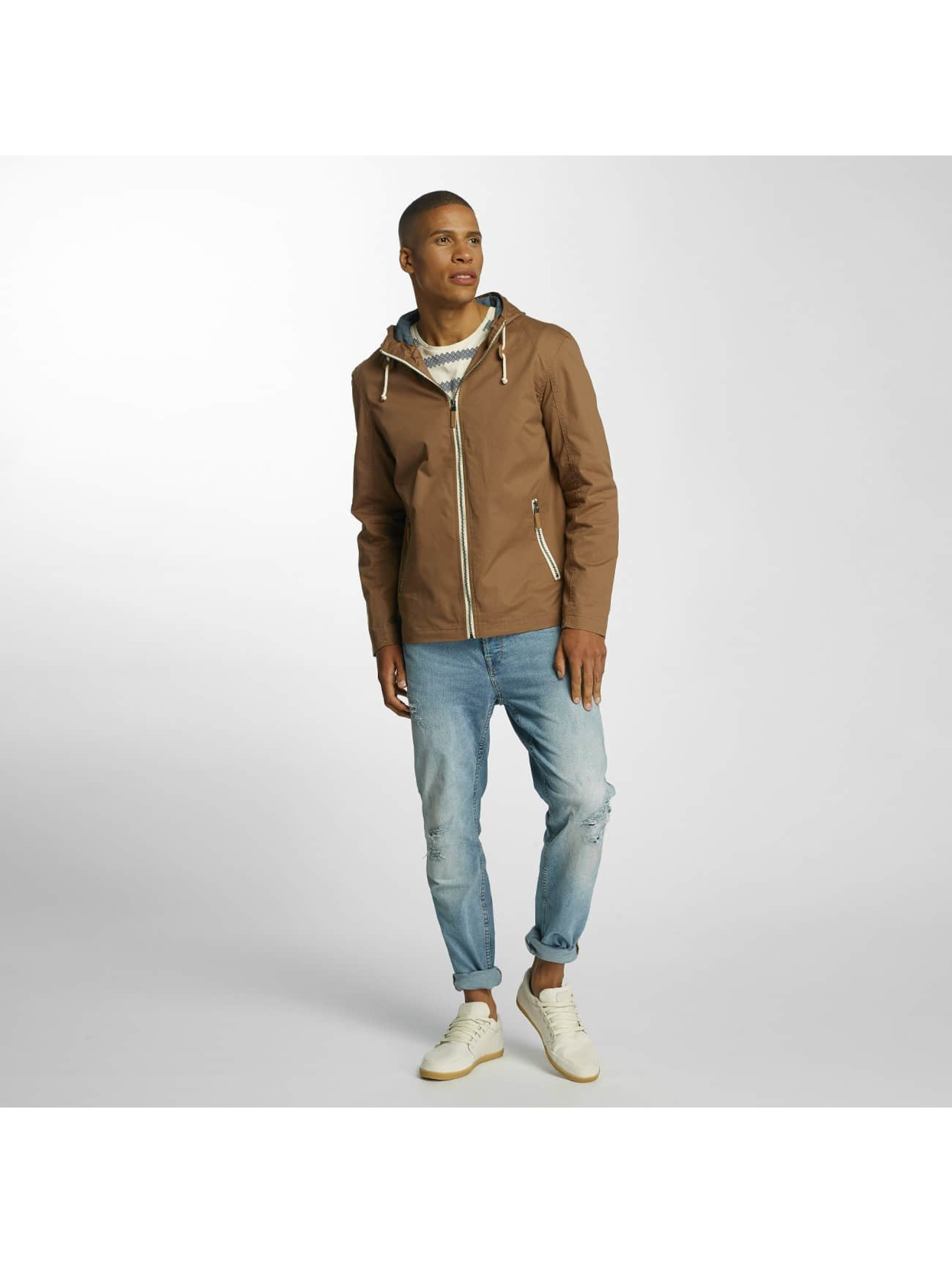 Brave Soul Transitional Jackets Lightweight Cotton brun