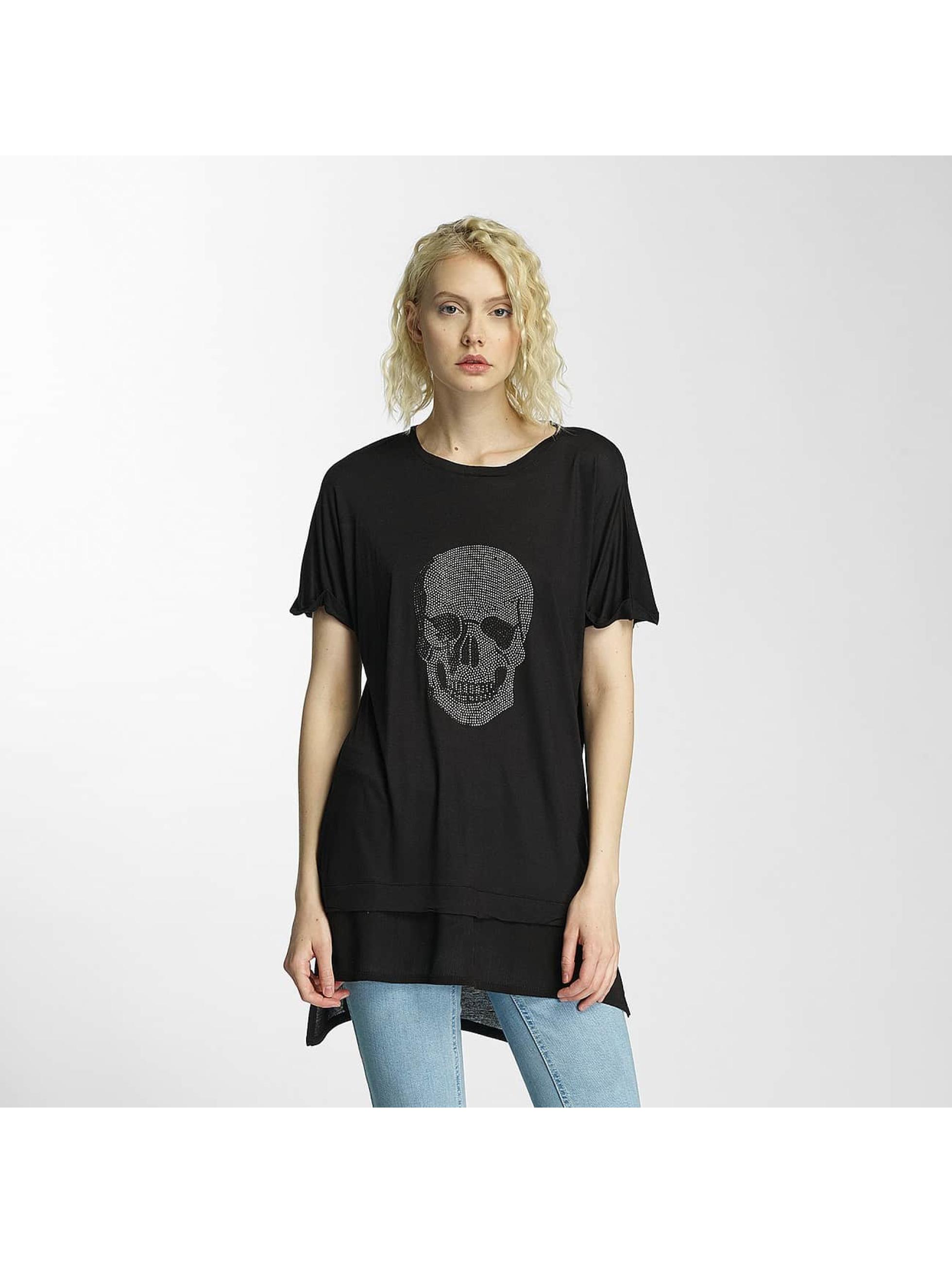 Brave Soul Tričká Hotfix Stud Skull èierna
