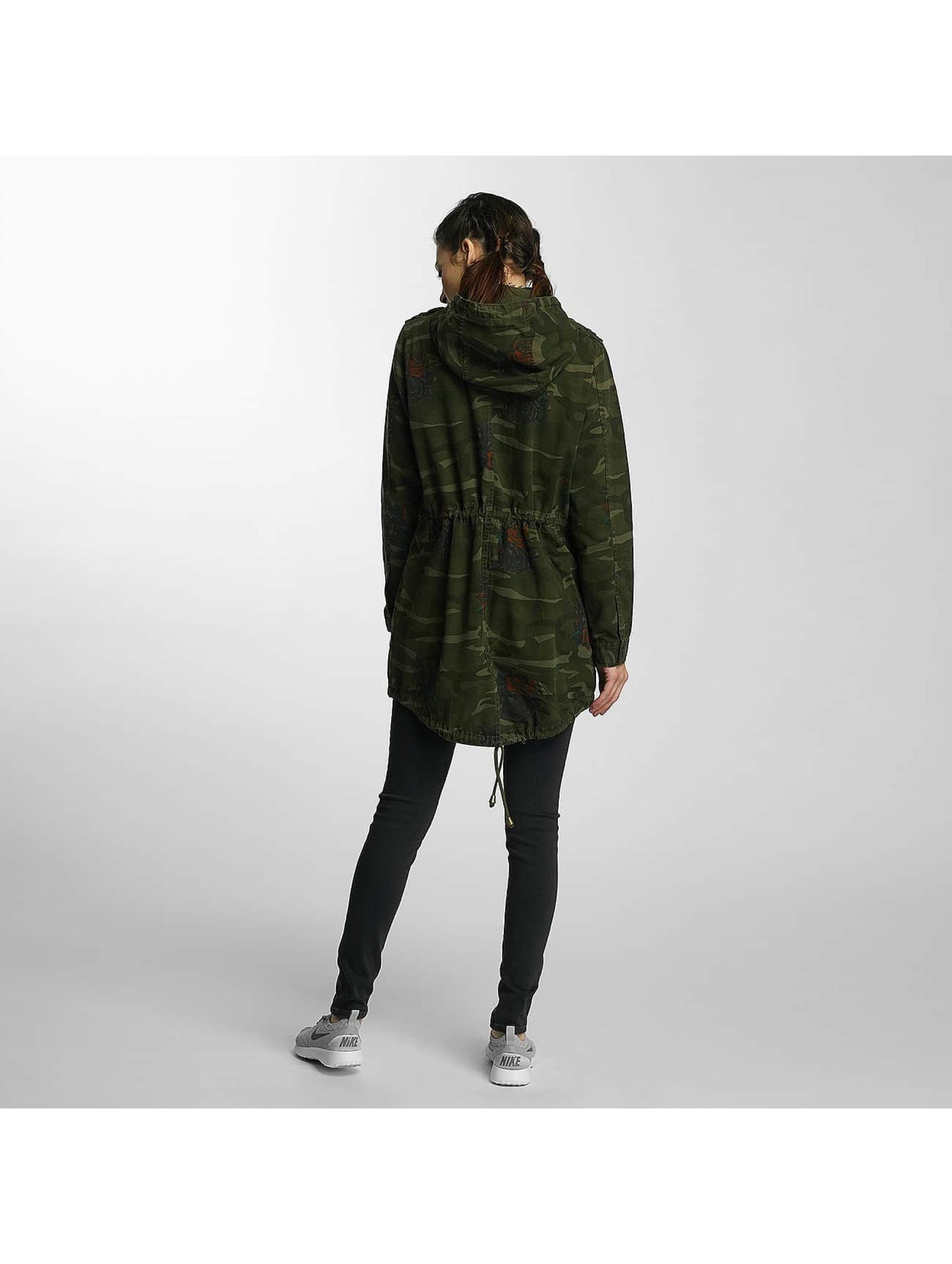 Brave Soul Veste mi-saison légère Hooded Cotton Twill Unlined camouflage