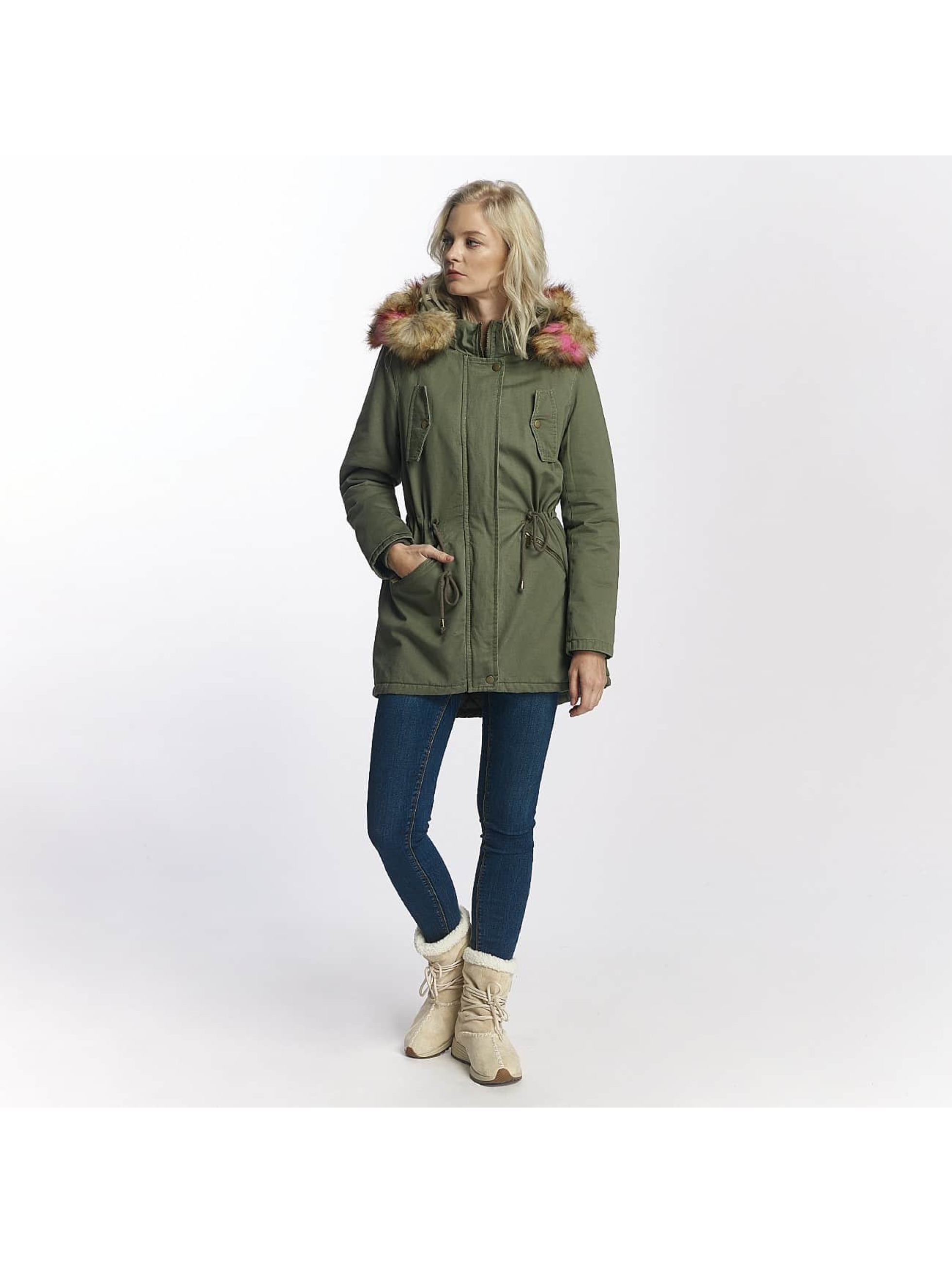 Brave Soul Winterjacke Washed khaki