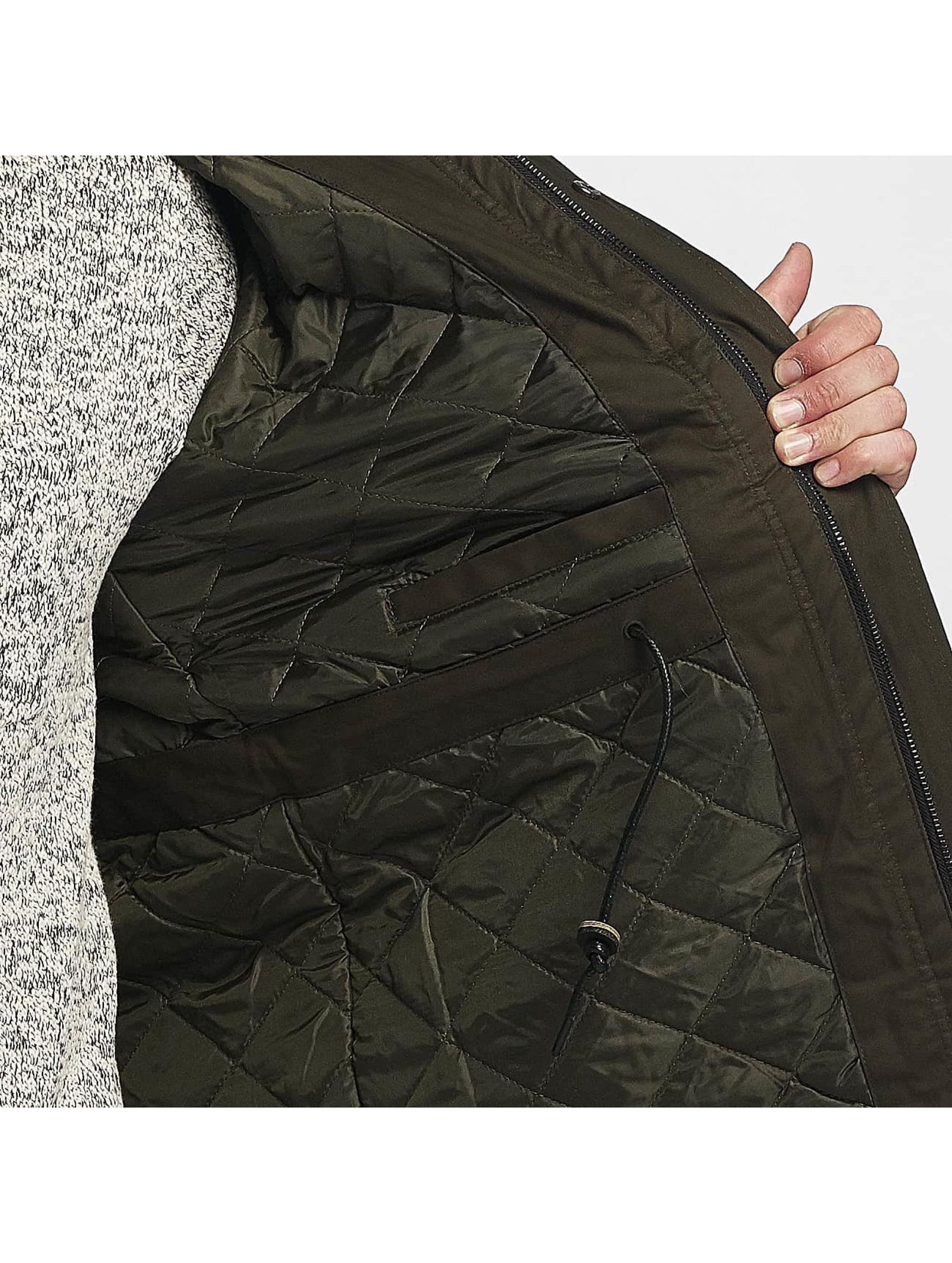 Brave Soul winterjas Brave Soul Winter Jacket olijfgroen