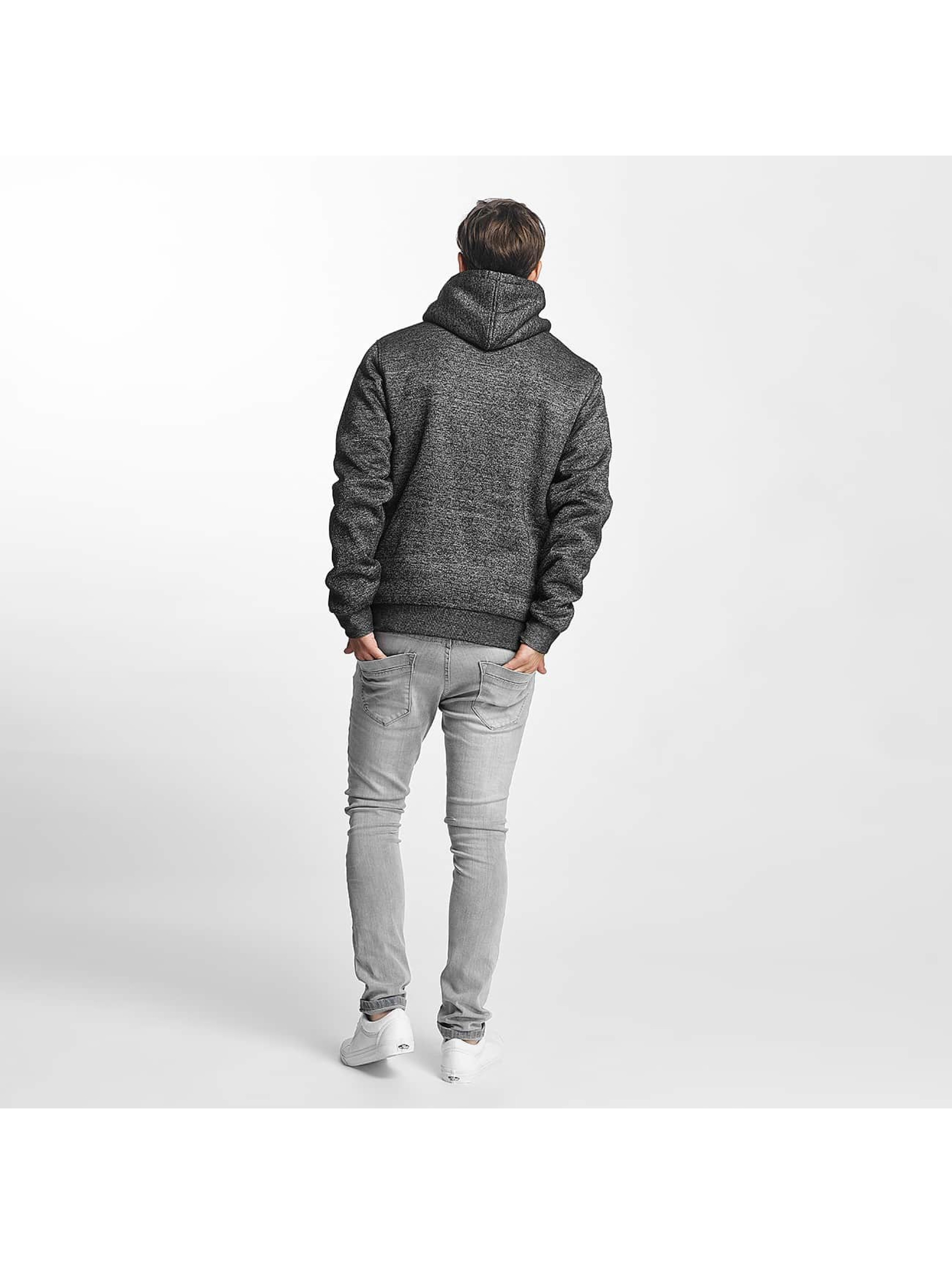 Brave Soul Zip Hoodie Through Sweat With Borg šedá