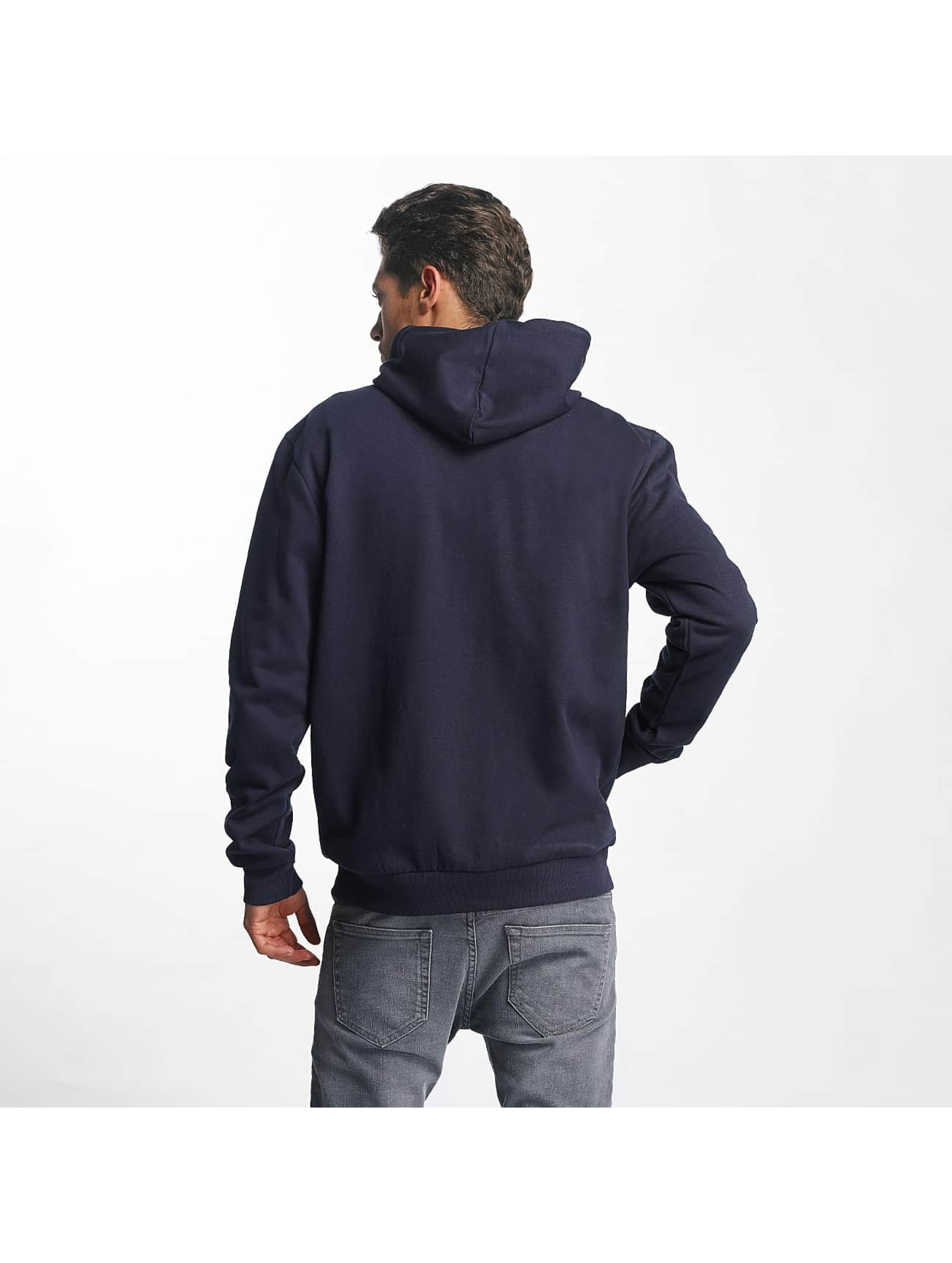 Brave Soul Zip Hoodie Through Jumper blå