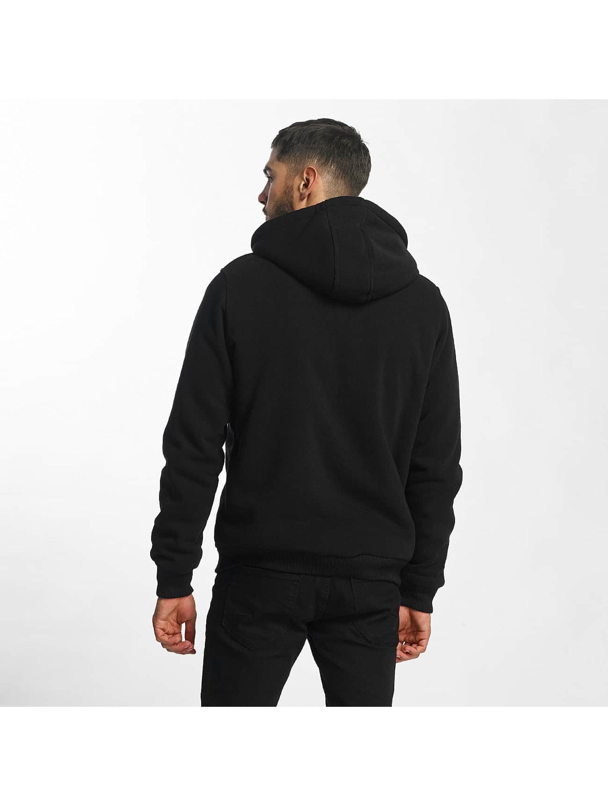 Brave Soul Zip Hoodie Sherpa Lined black