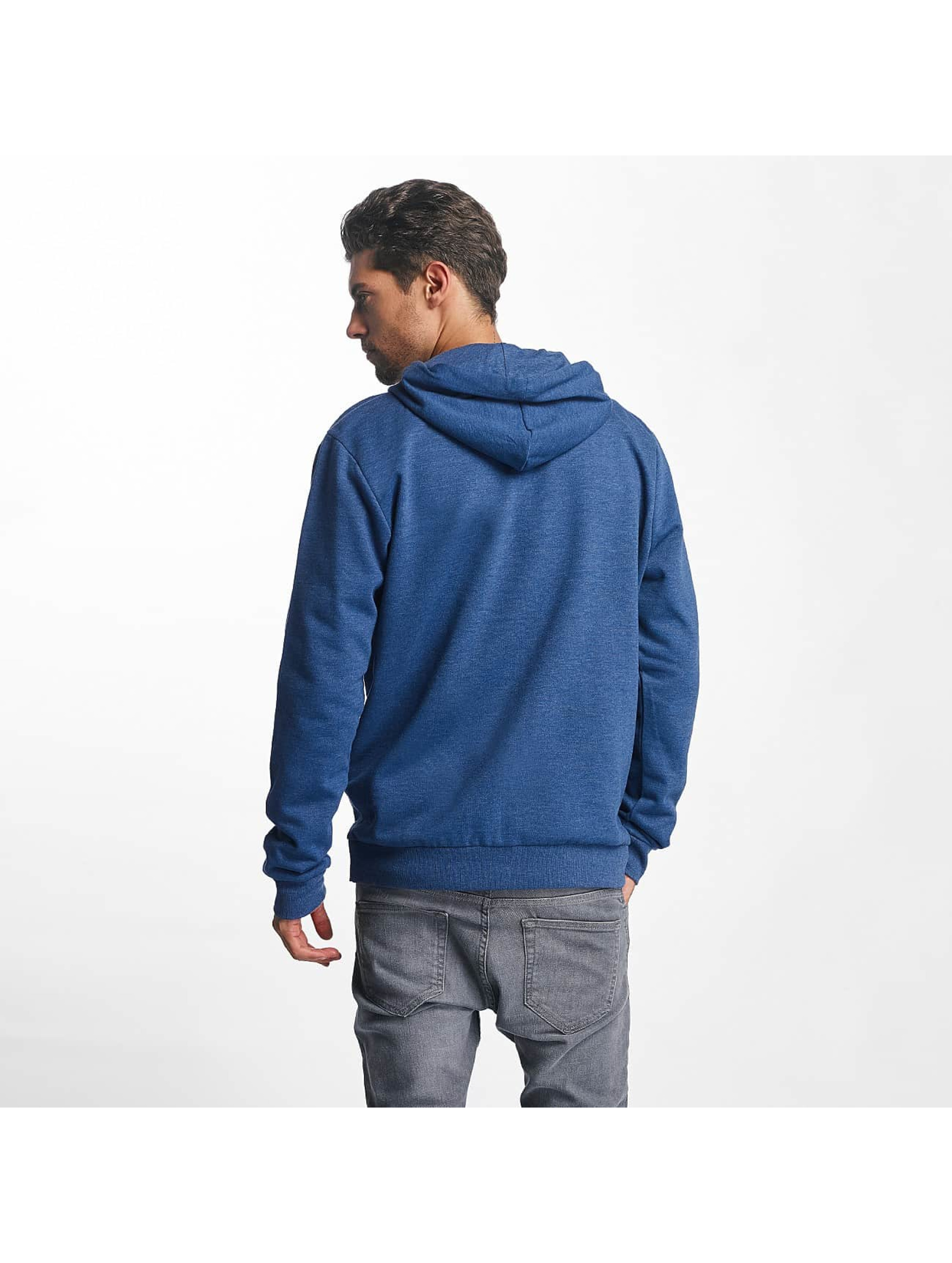 Brave Soul Zip Hoodie Through Jumper blau