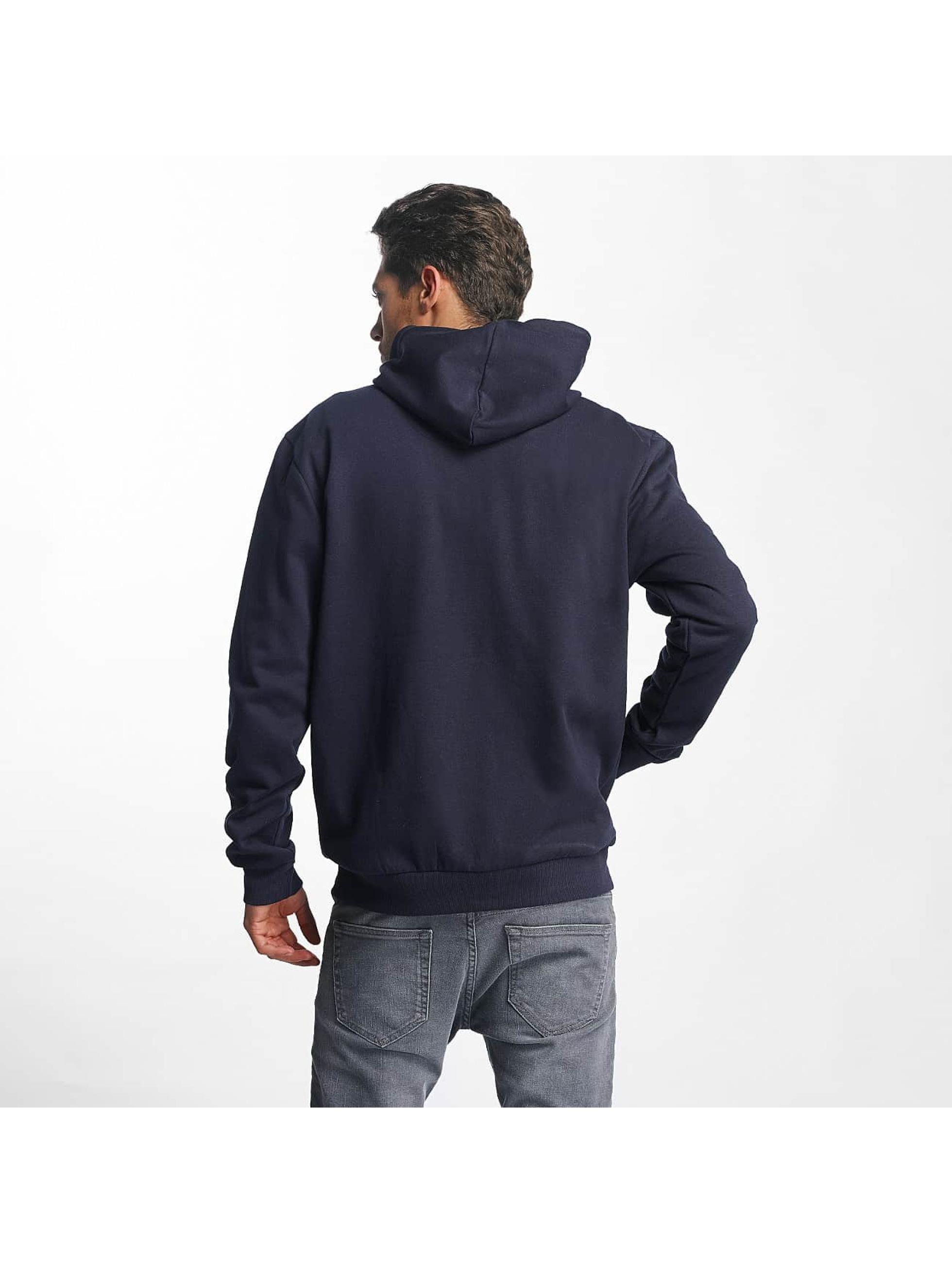 Brave Soul Zip Hoodie Through Jumper blau