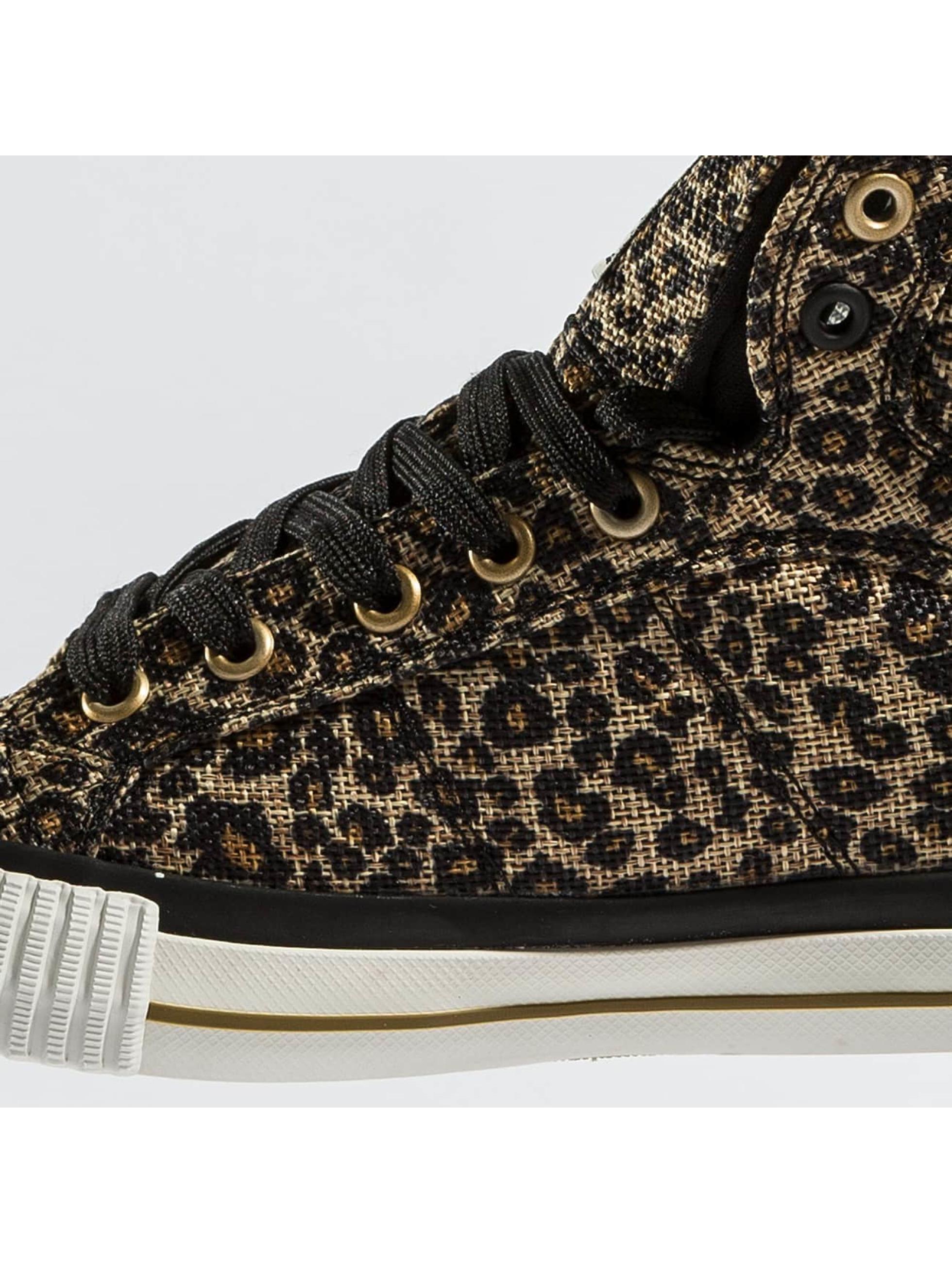 british knights damen sneaker dee textile leopard in beige. Black Bedroom Furniture Sets. Home Design Ideas