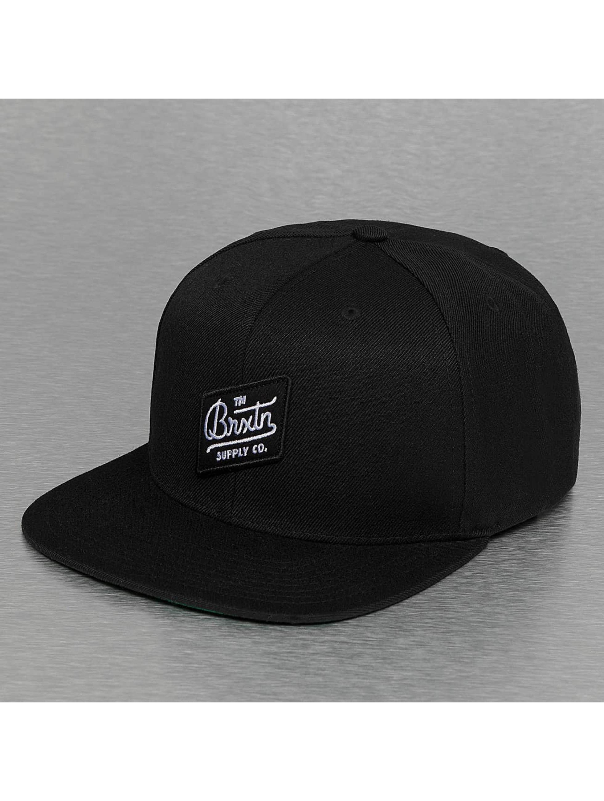 Brixton Snapback Caps Bedford czarny
