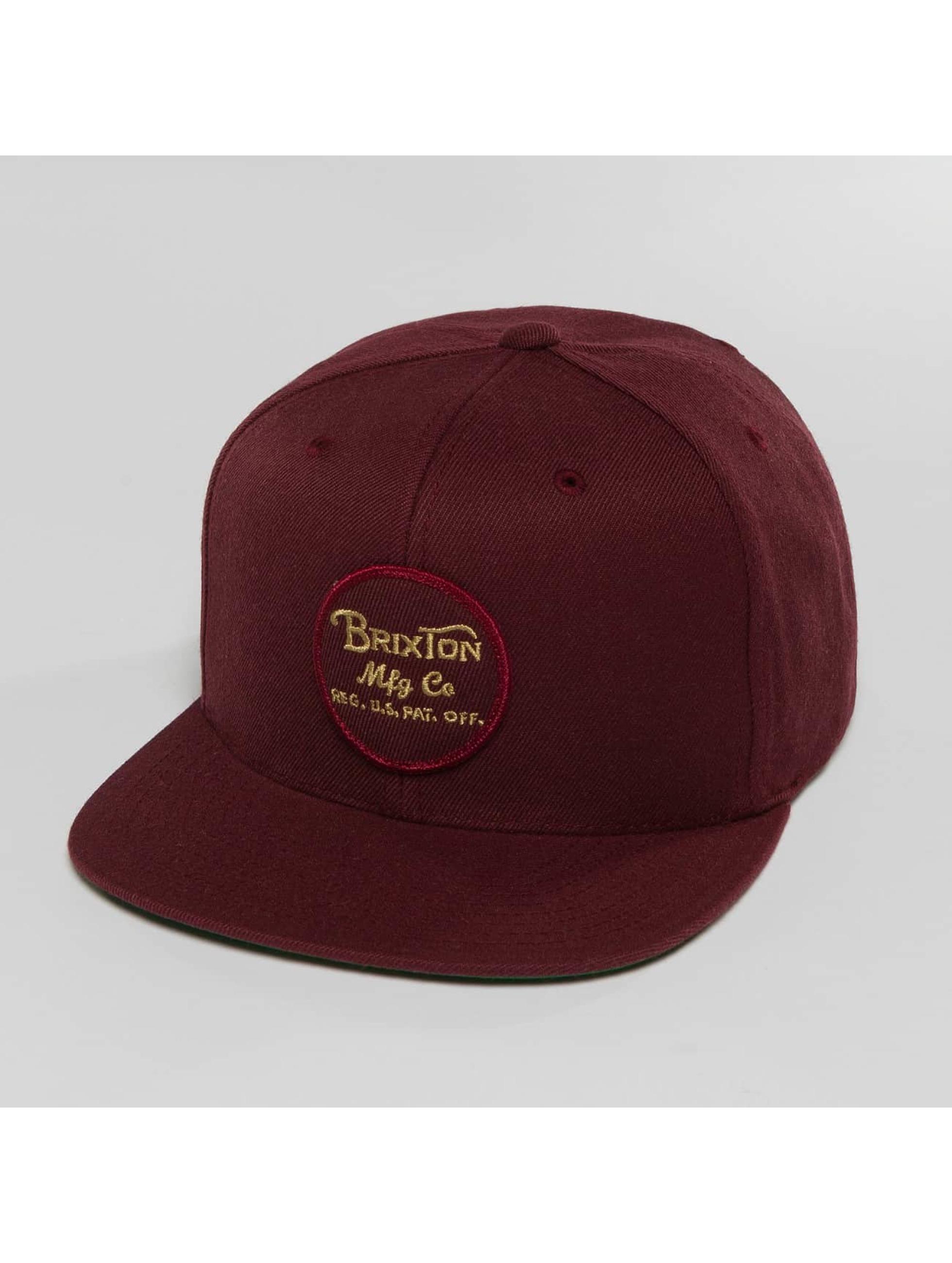 Brixton Snapback Caps Wheeler czerwony