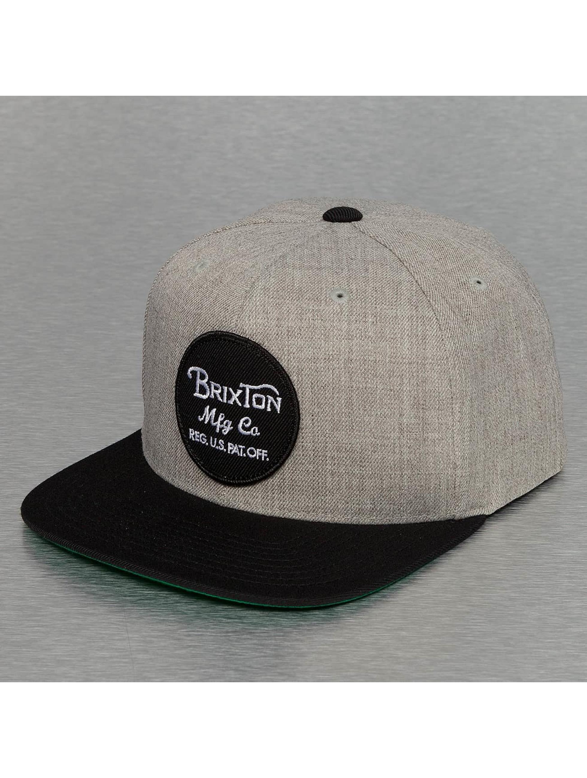 Brixton Snapback Caps Wheeler harmaa