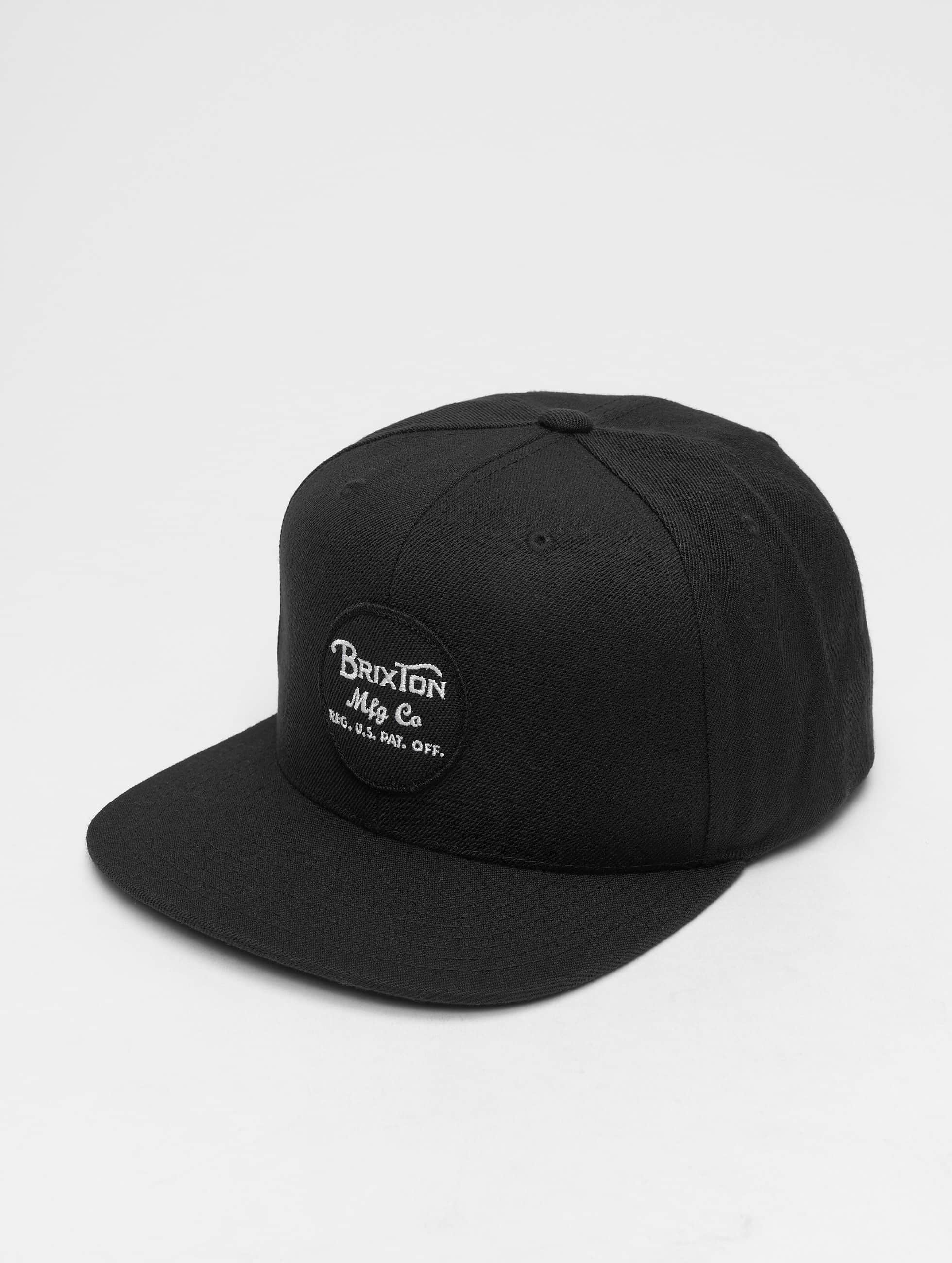 Brixton Snapback Caps Wheeler musta