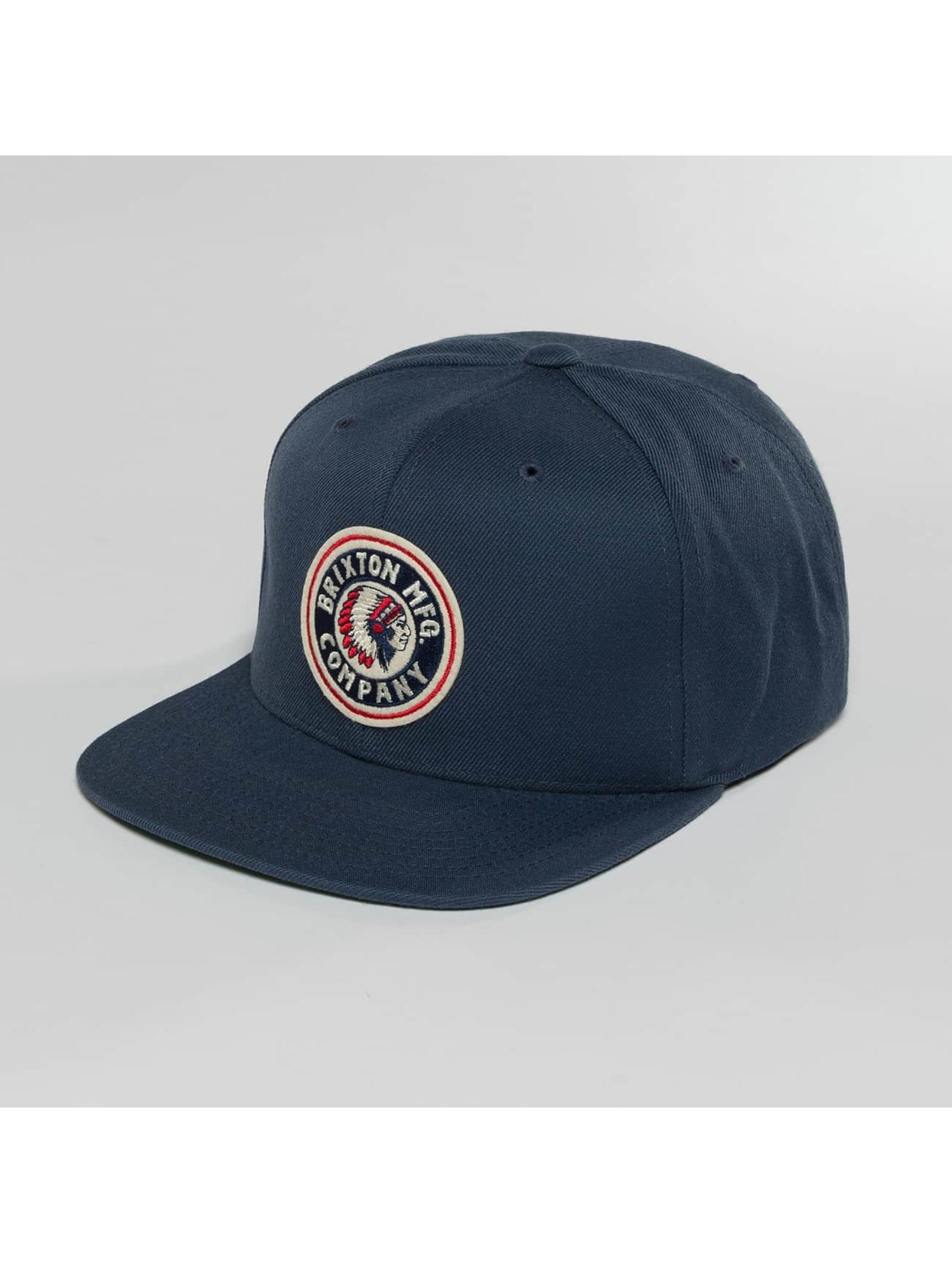 Brixton Snapback Caps Rival niebieski