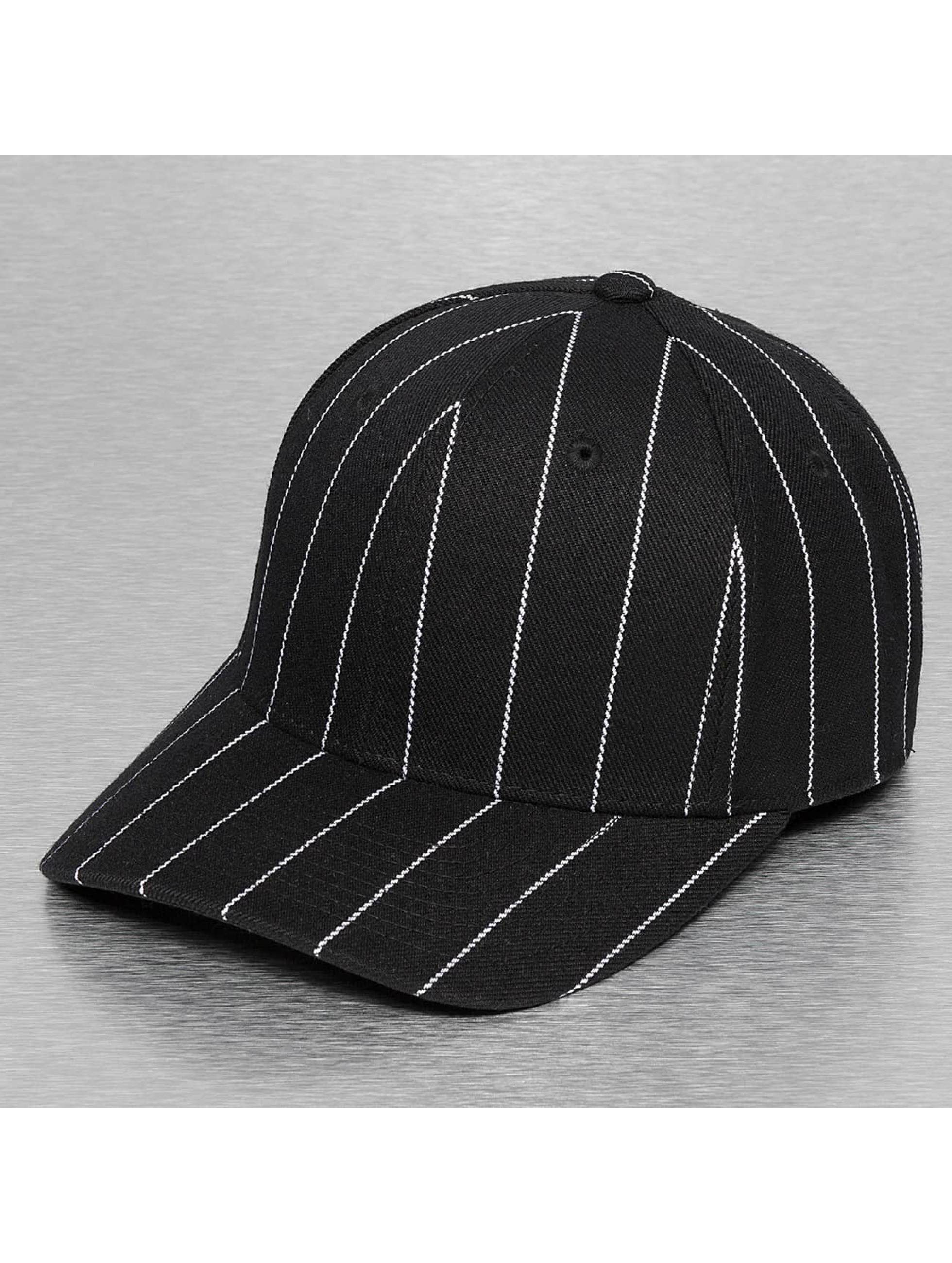 Fitted Cap Pin Striped in schwarz