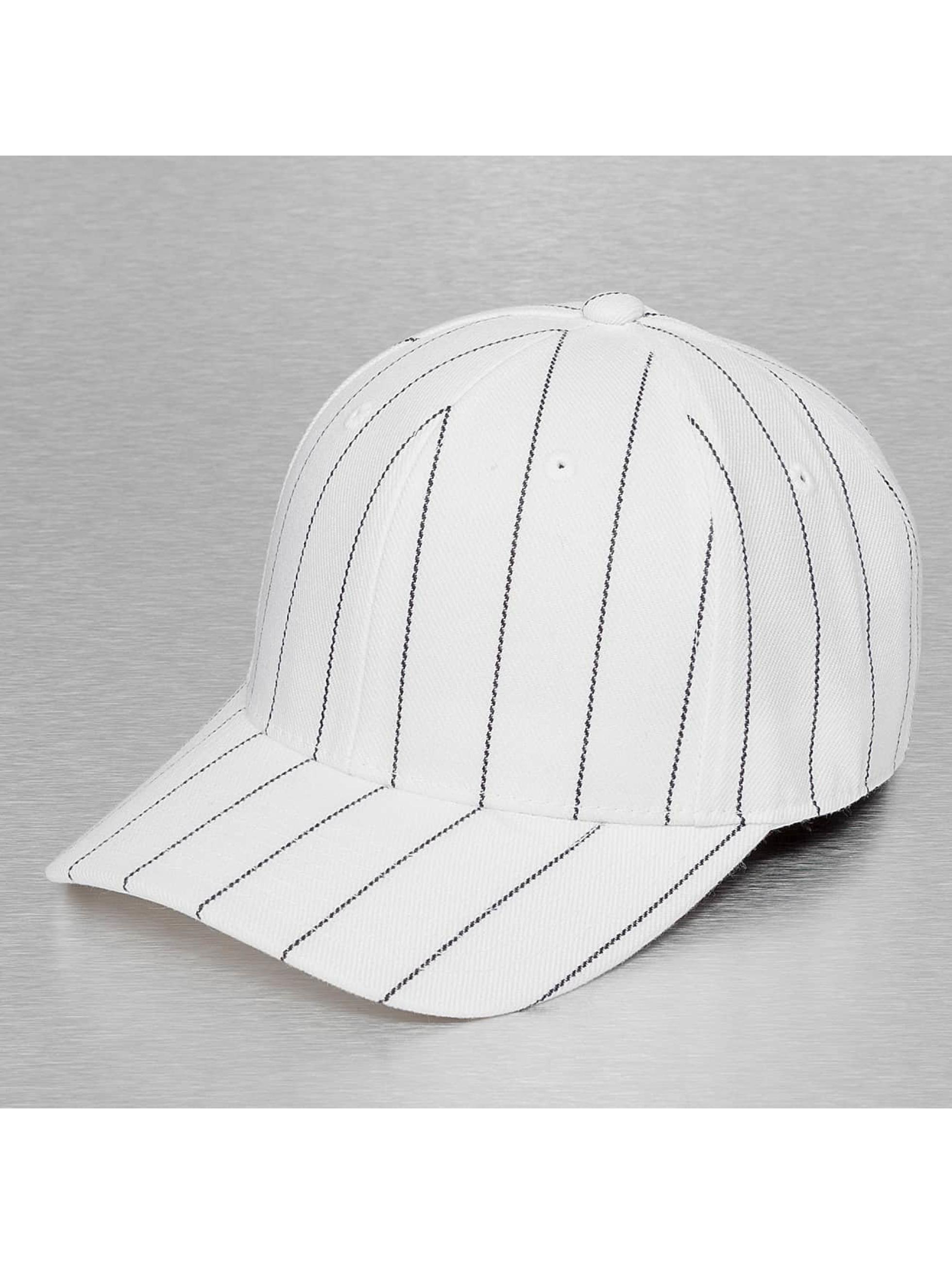 Fitted Cap Pin Striped in weiß