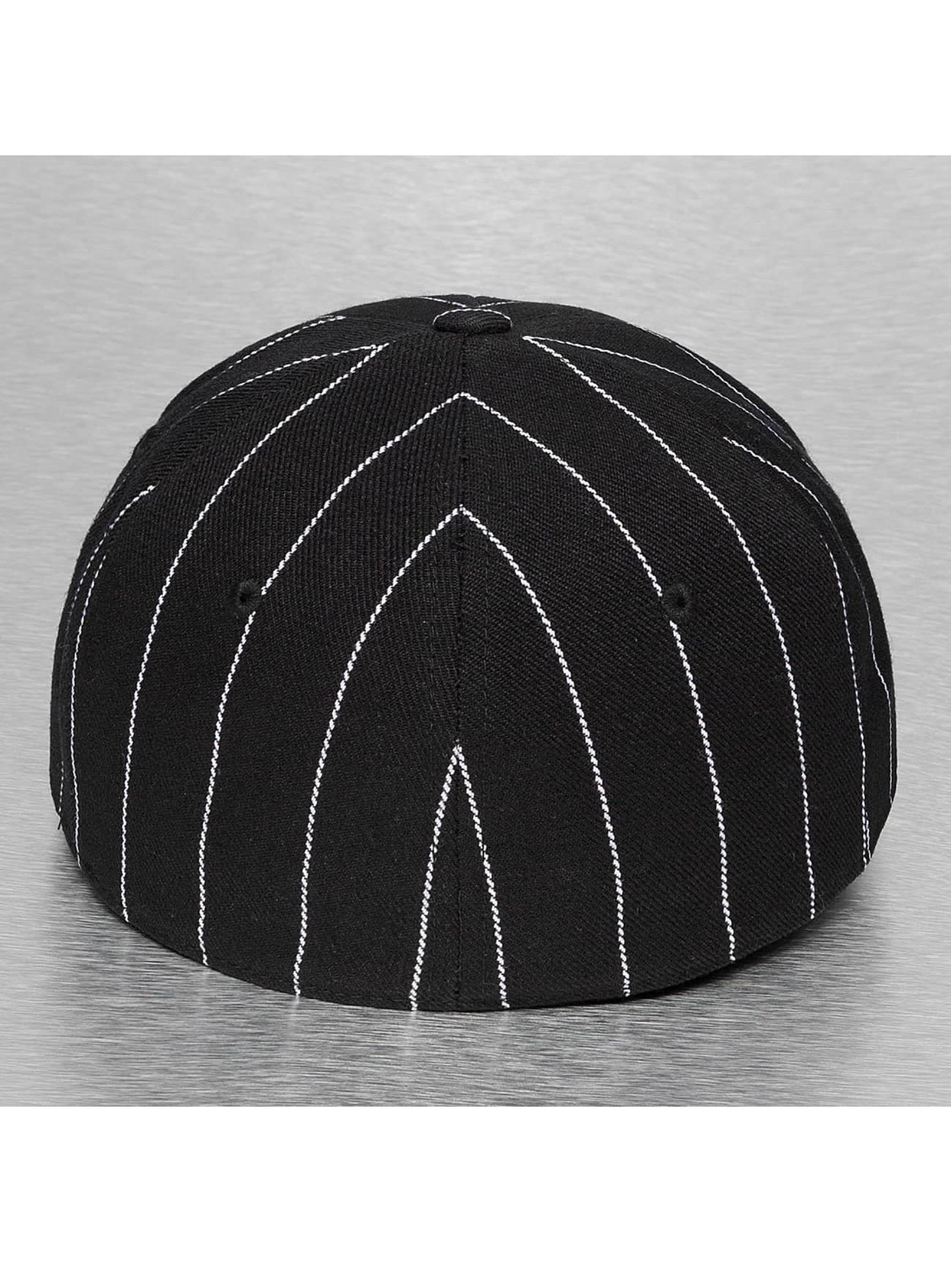 Cap Crony Fitted Cap Pin Striped zwart