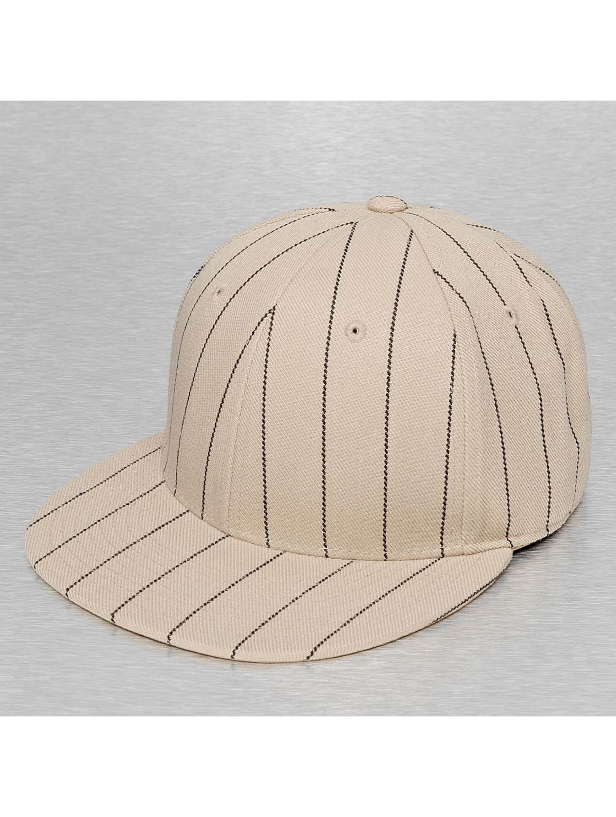 Cap Crony Hip hop -lippikset Pin Striped khakiruskea