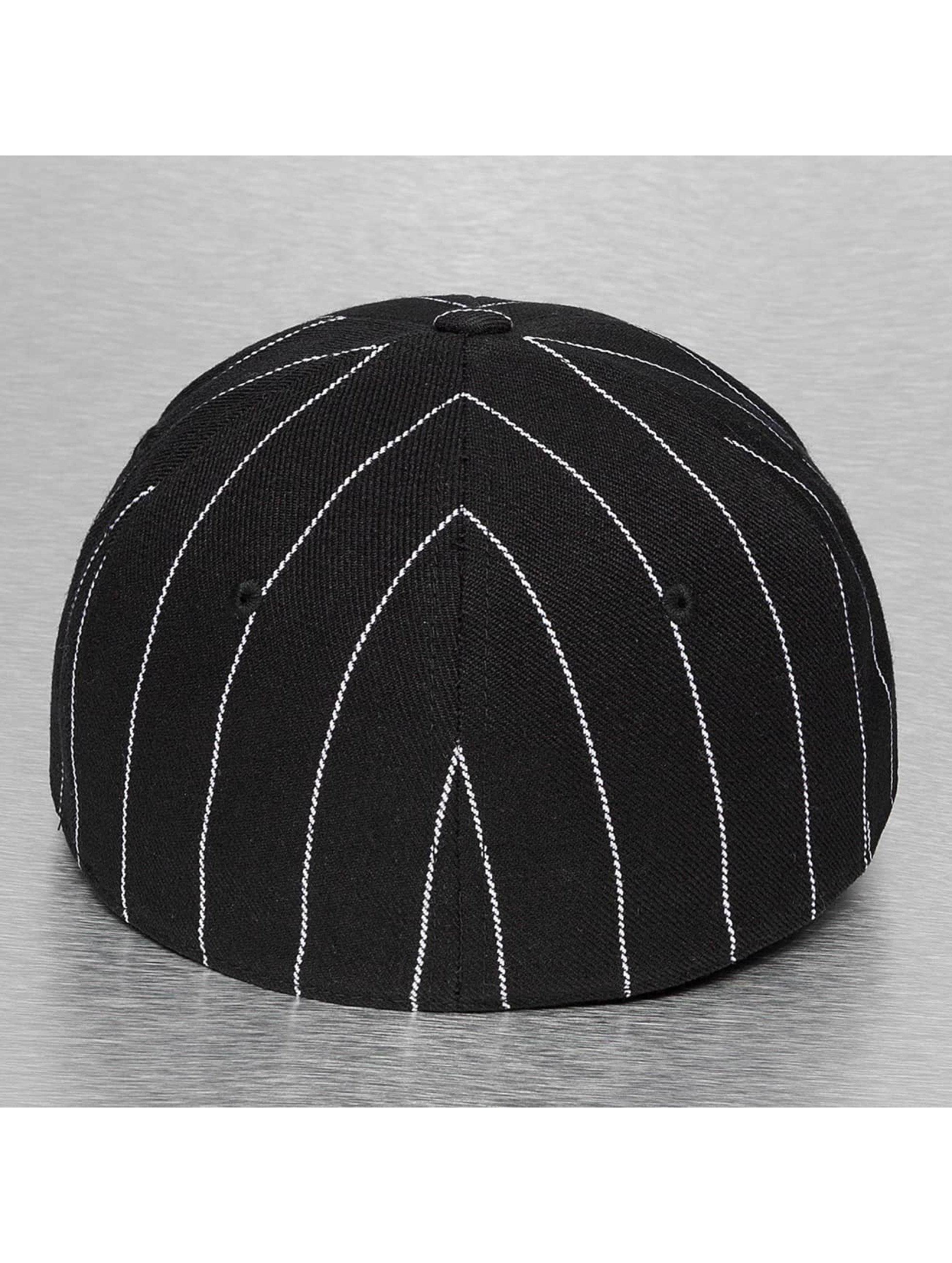 Cap Crony Hip hop -lippikset Pin Striped musta