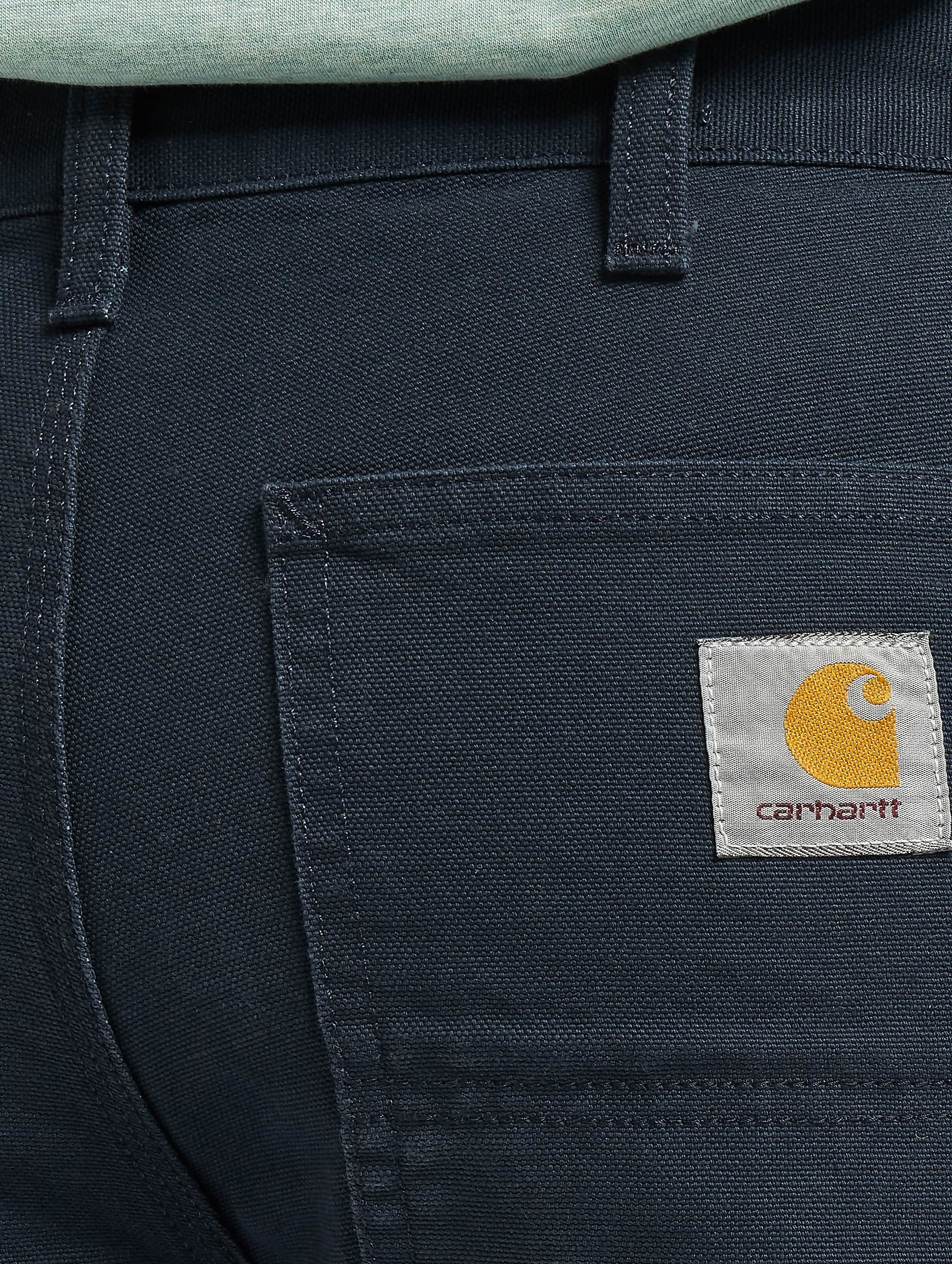 Carhartt WIP Cargo Nohavice Turner Single Knee modrá